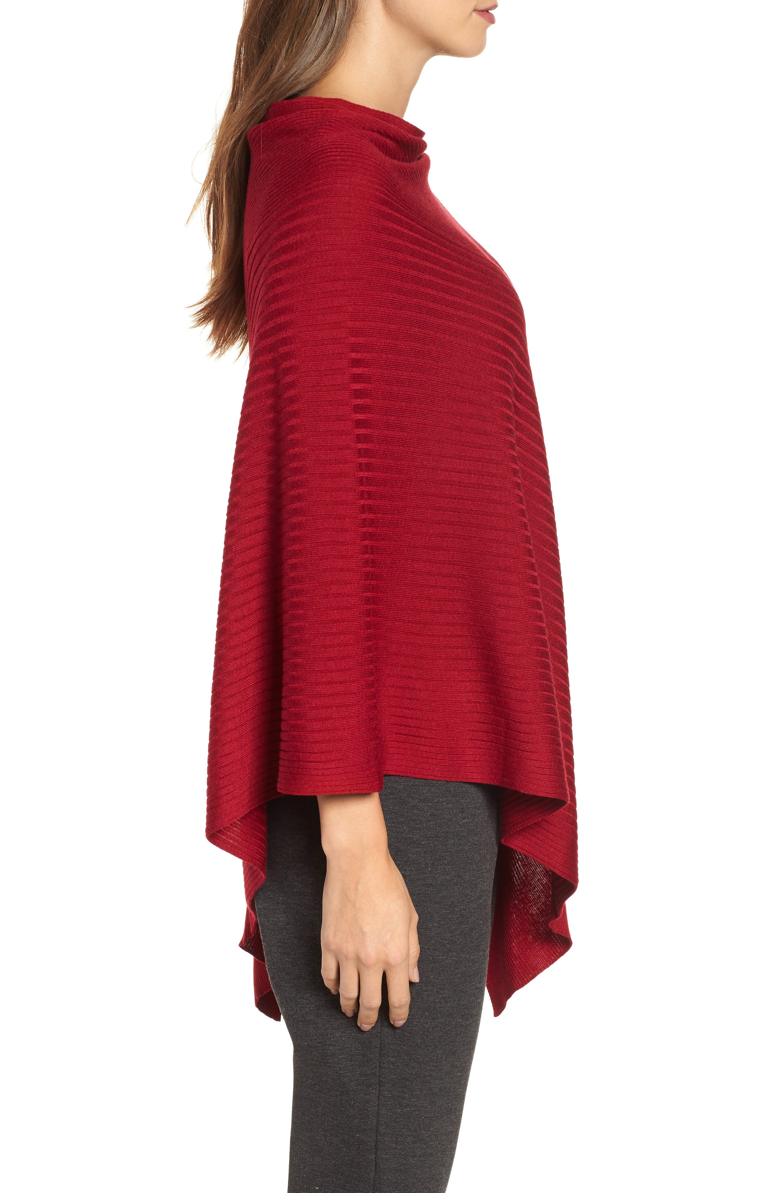 Bateau Neck Sweater Poncho,                             Alternate thumbnail 9, color,
