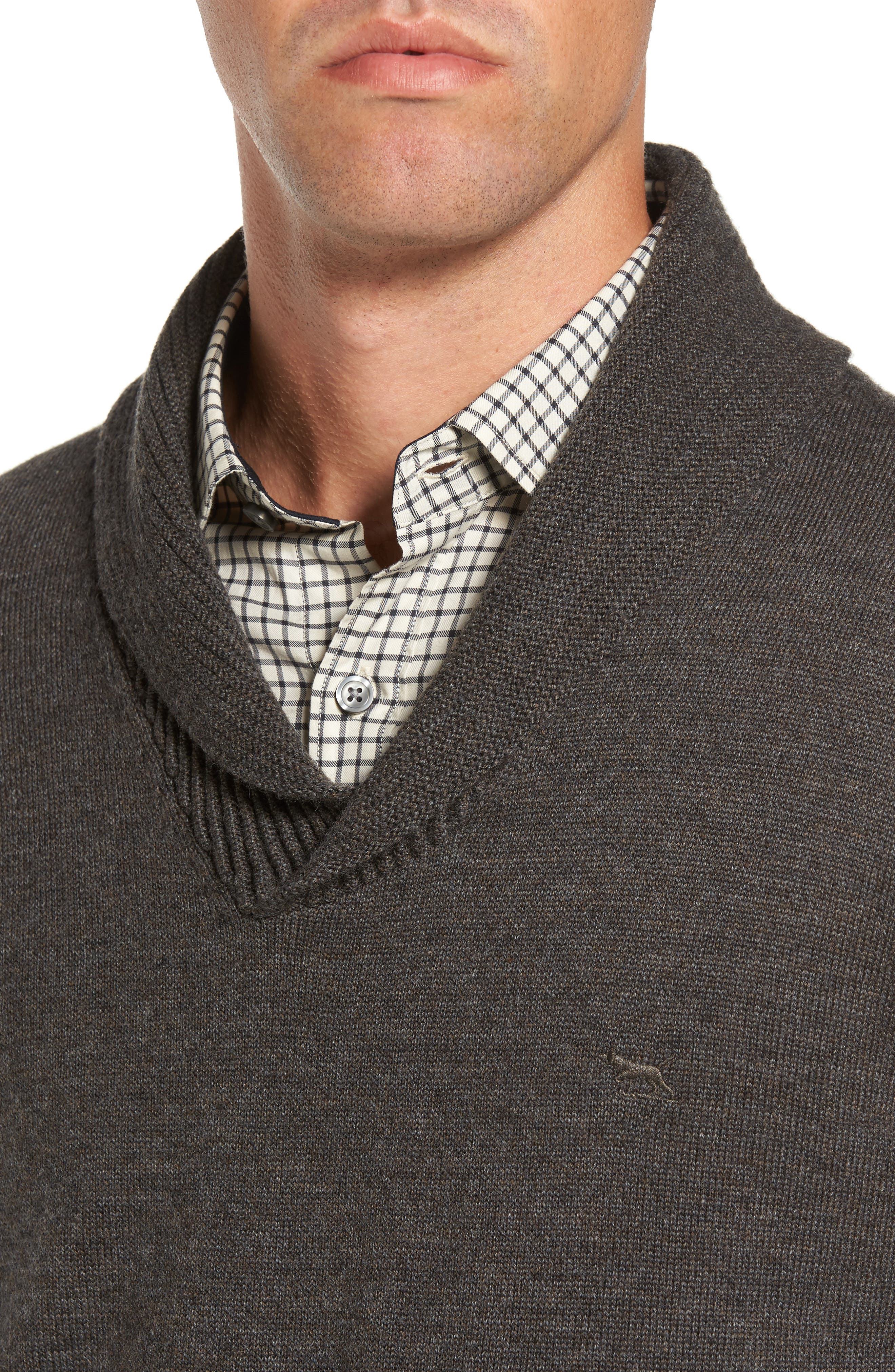 PT Chevalier Shawl Collar Sweater,                             Alternate thumbnail 4, color,                             202
