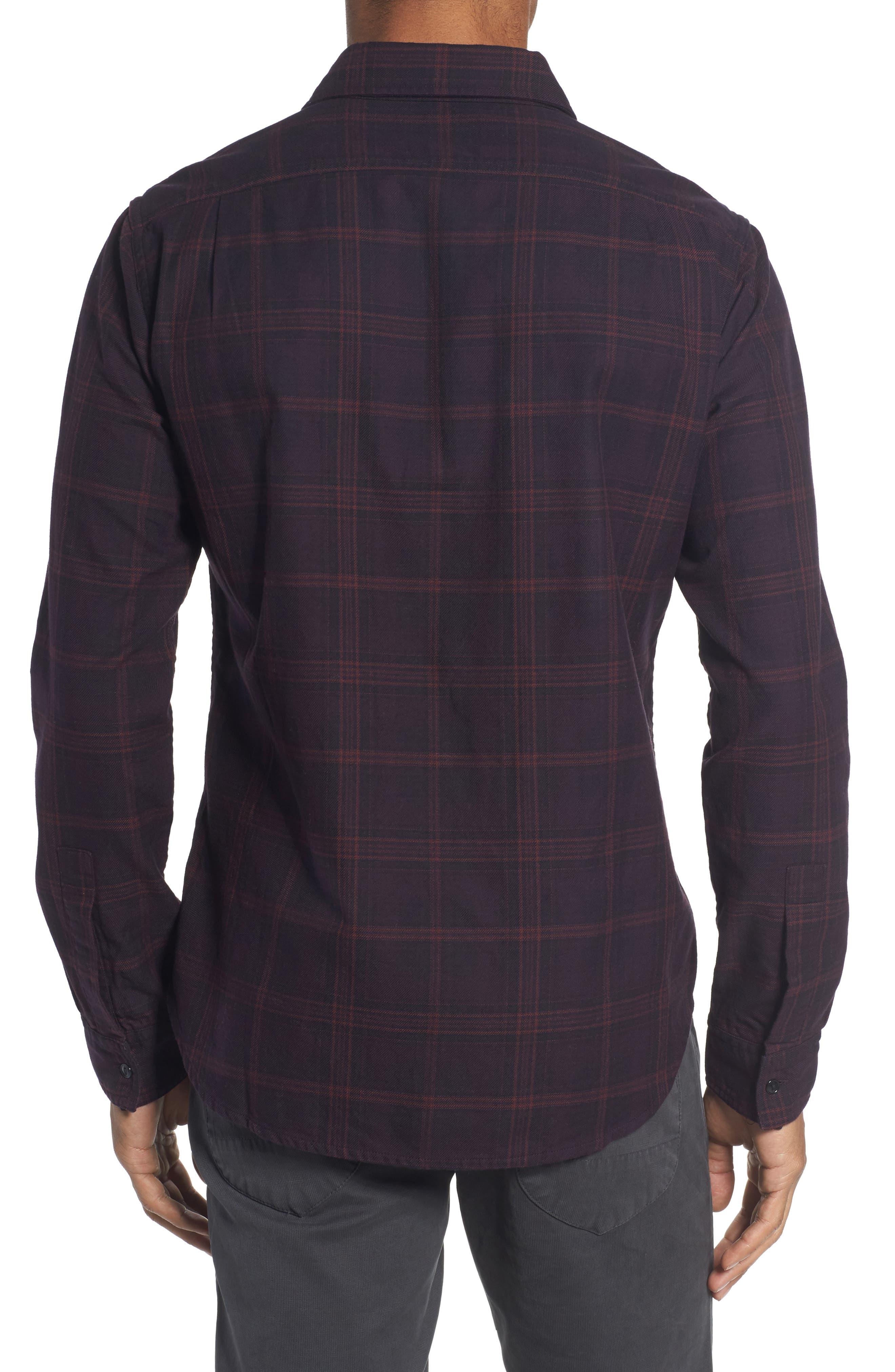 Slim Fit Check Flannel Sport Shirt,                             Alternate thumbnail 2, color,                             600