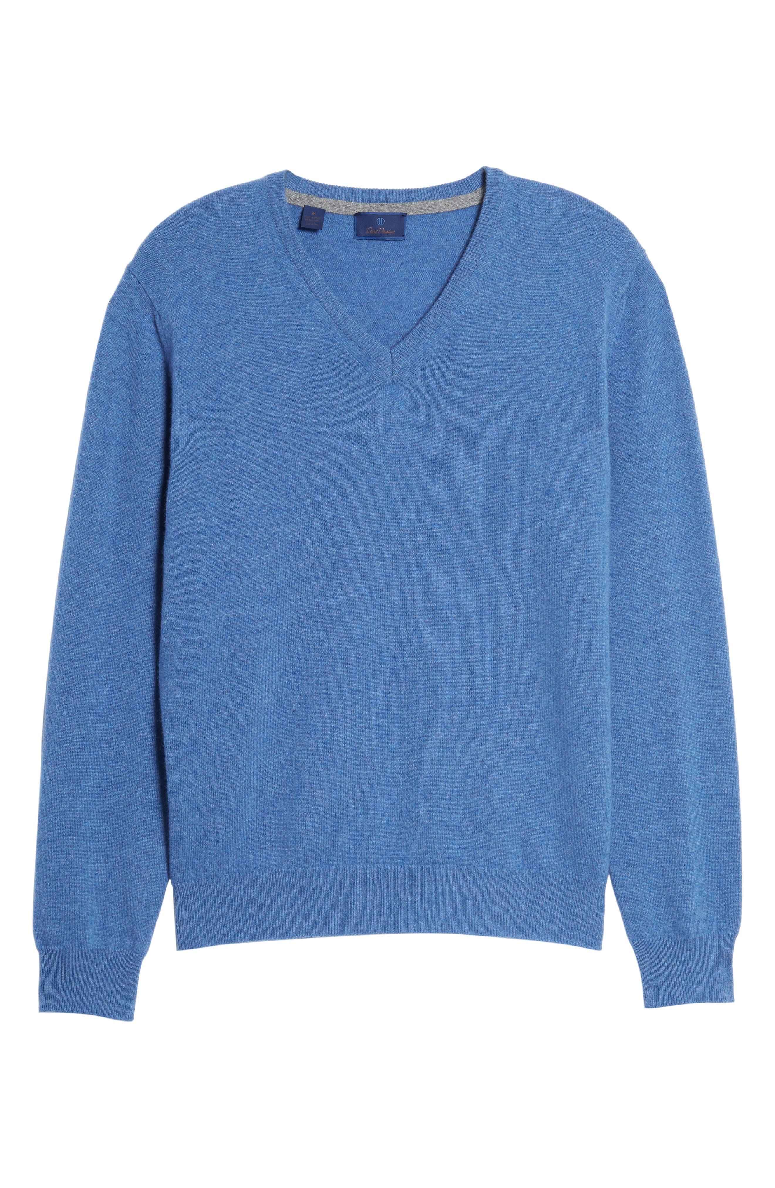 Cashmere V-Neck Sweater,                             Alternate thumbnail 34, color,