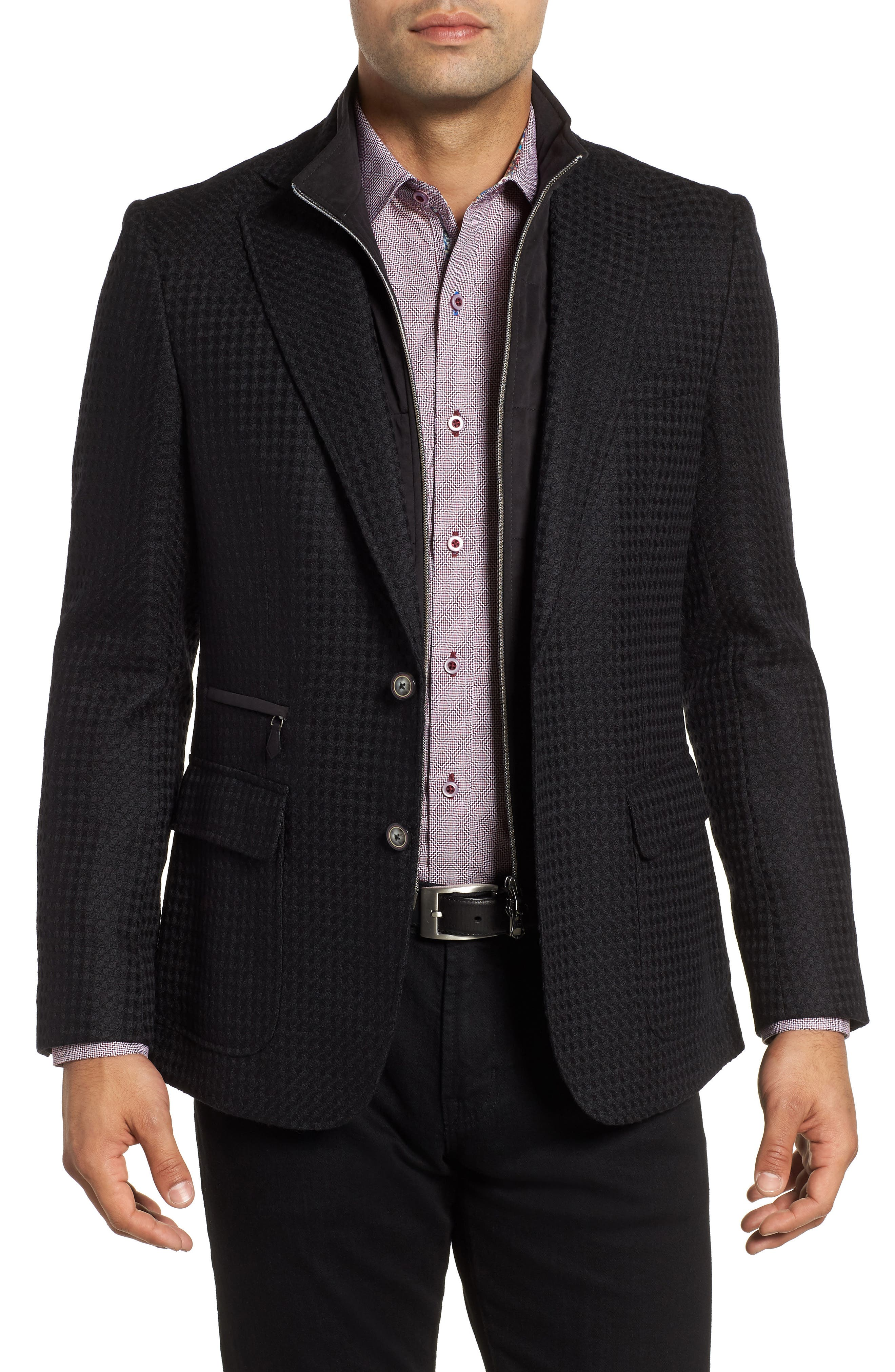 Downhill Tailored Wool Sport Coat,                             Main thumbnail 1, color,                             001