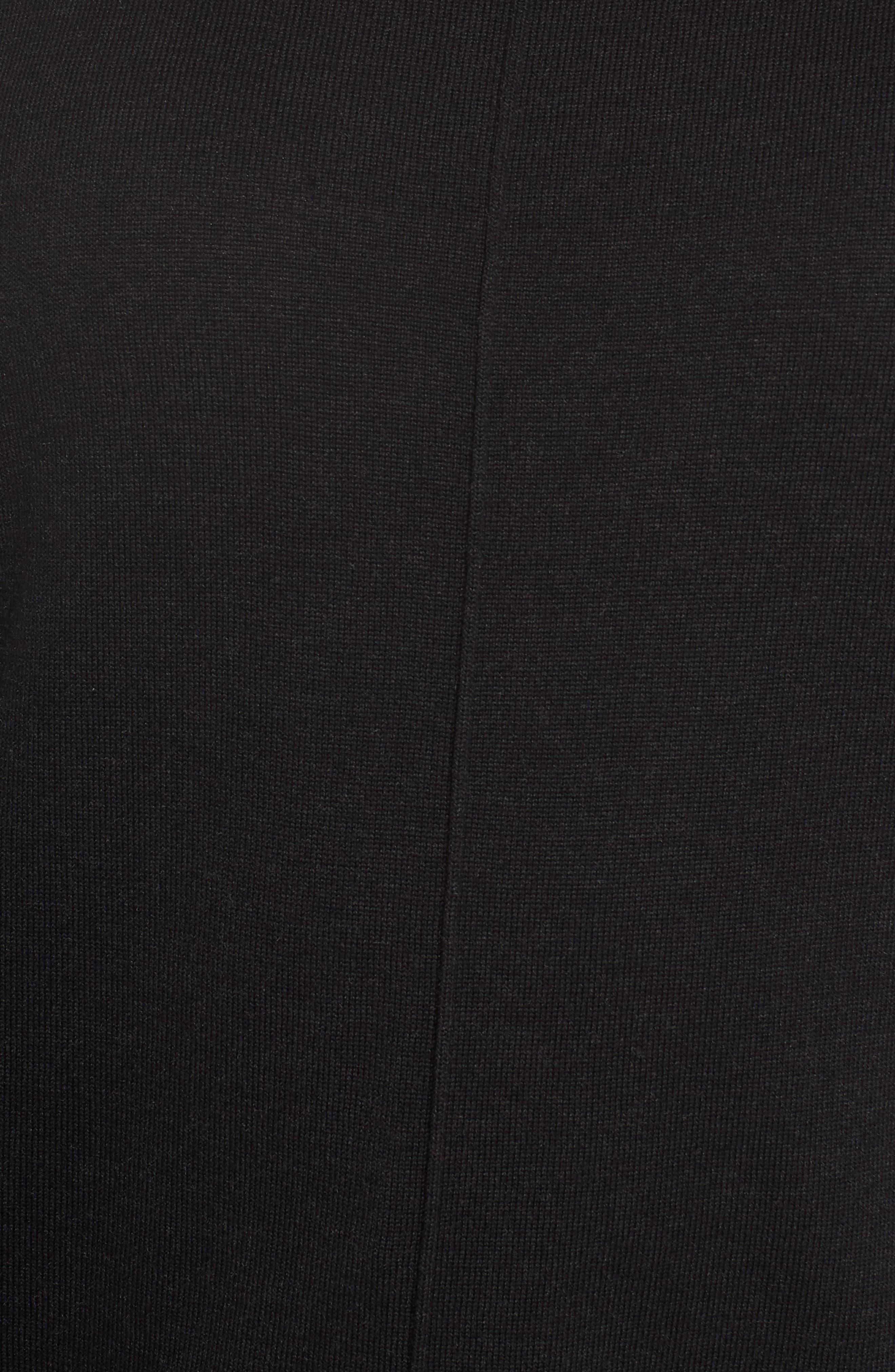 Mix Gauge Zip Cuff Sweater,                             Alternate thumbnail 5, color,                             001