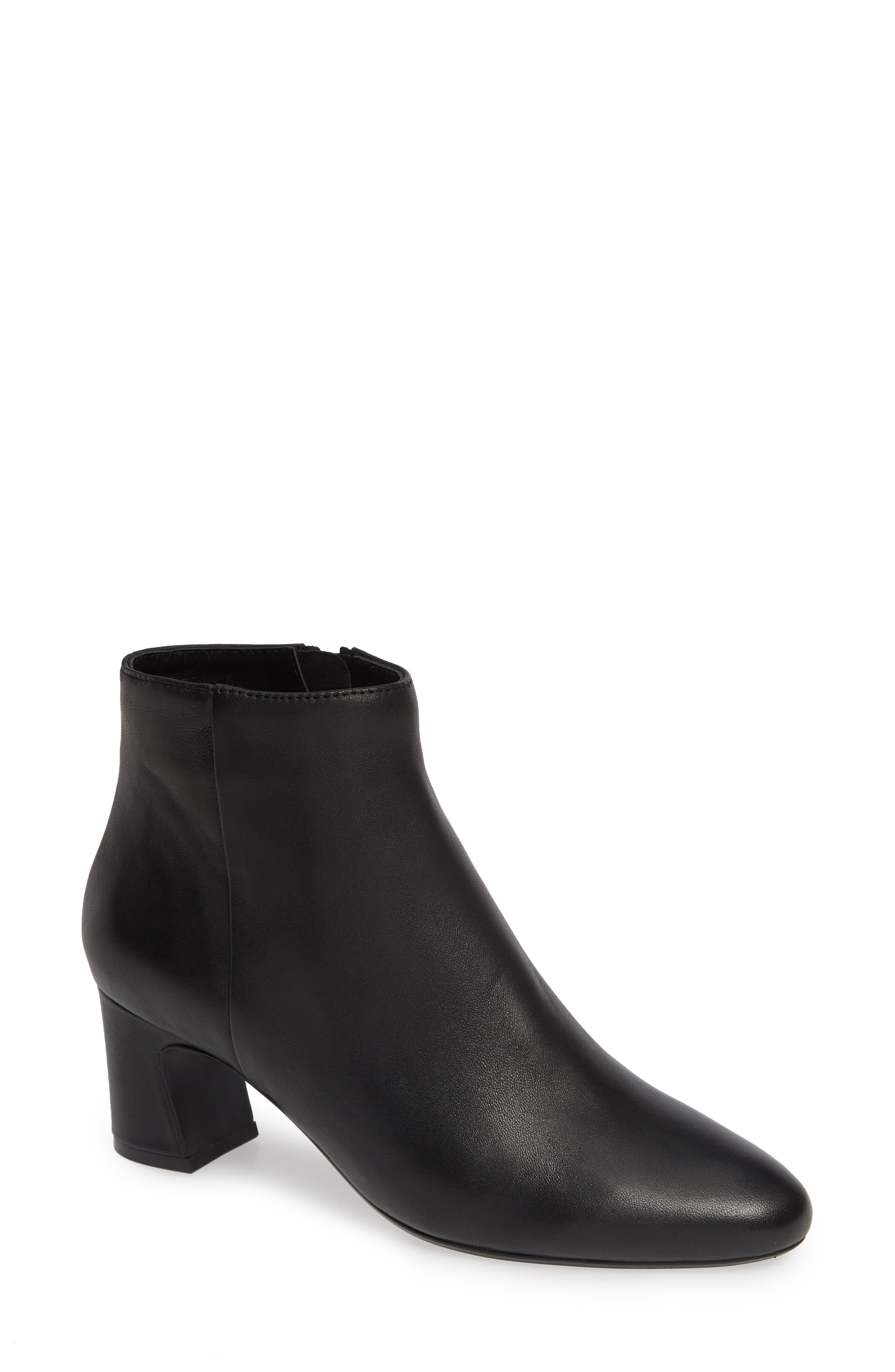 Dany Bootie,                             Main thumbnail 1, color,                             BLACK LEATHER