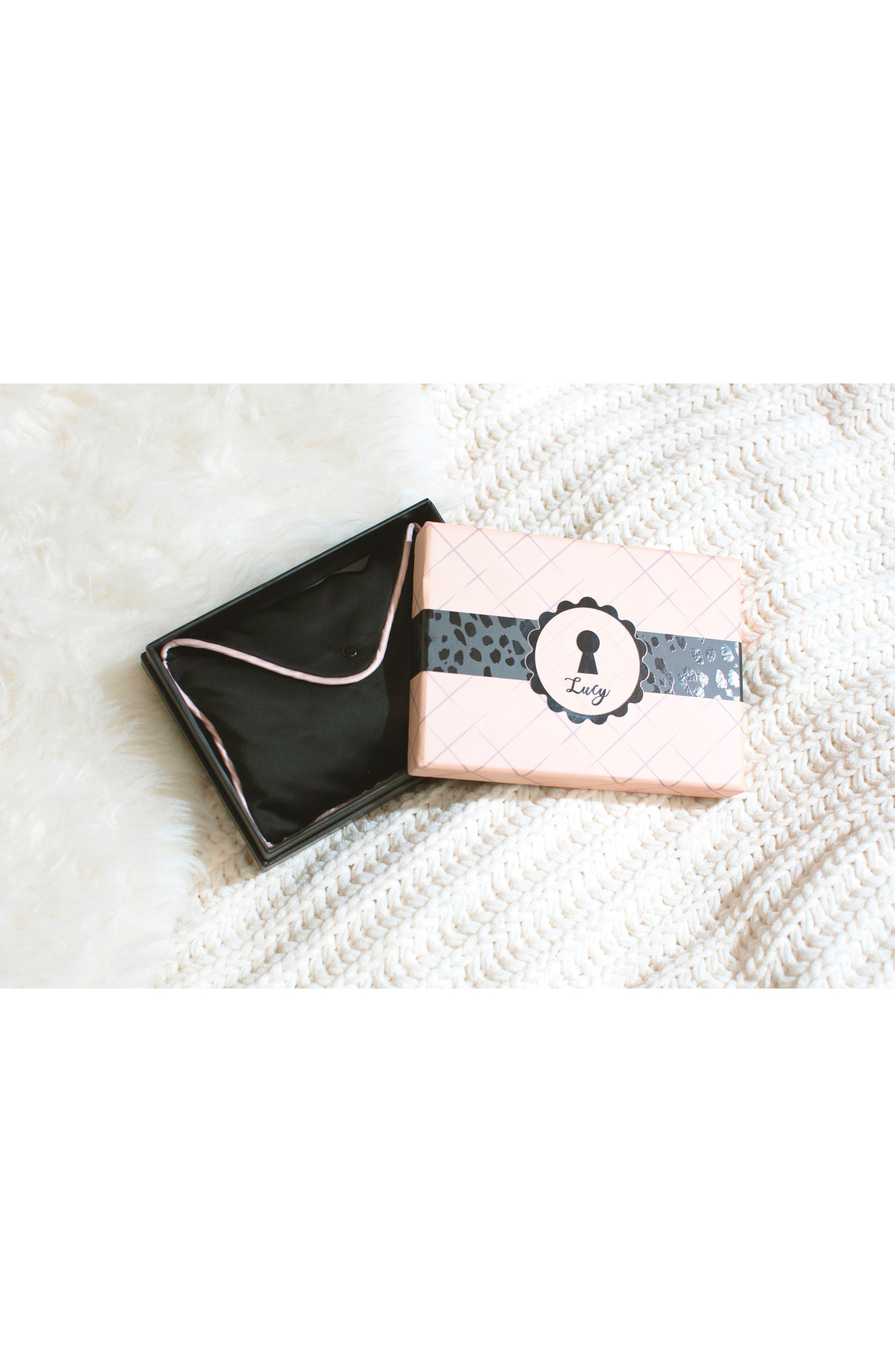 Lucy Bralette & Panties Gift Box,                             Alternate thumbnail 6, color,                             BLACK