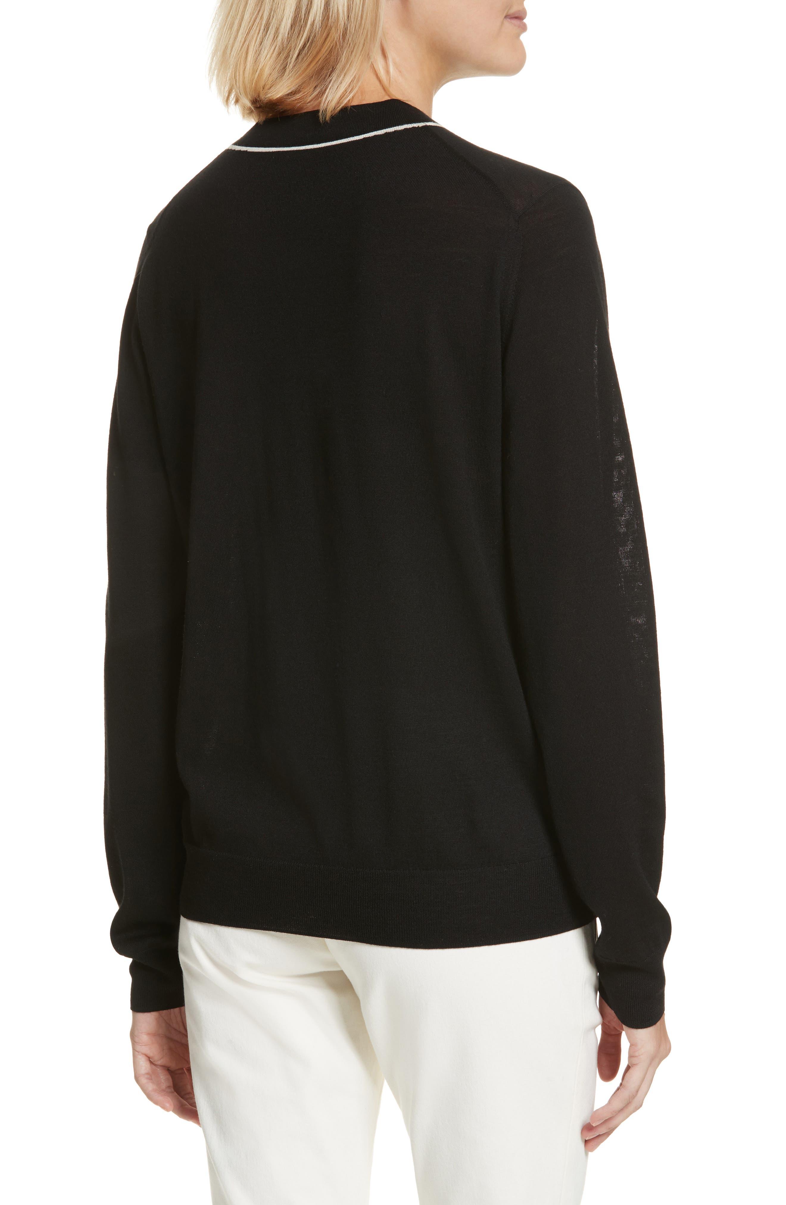 Fine Merino Wool Sweater,                             Alternate thumbnail 2, color,                             001