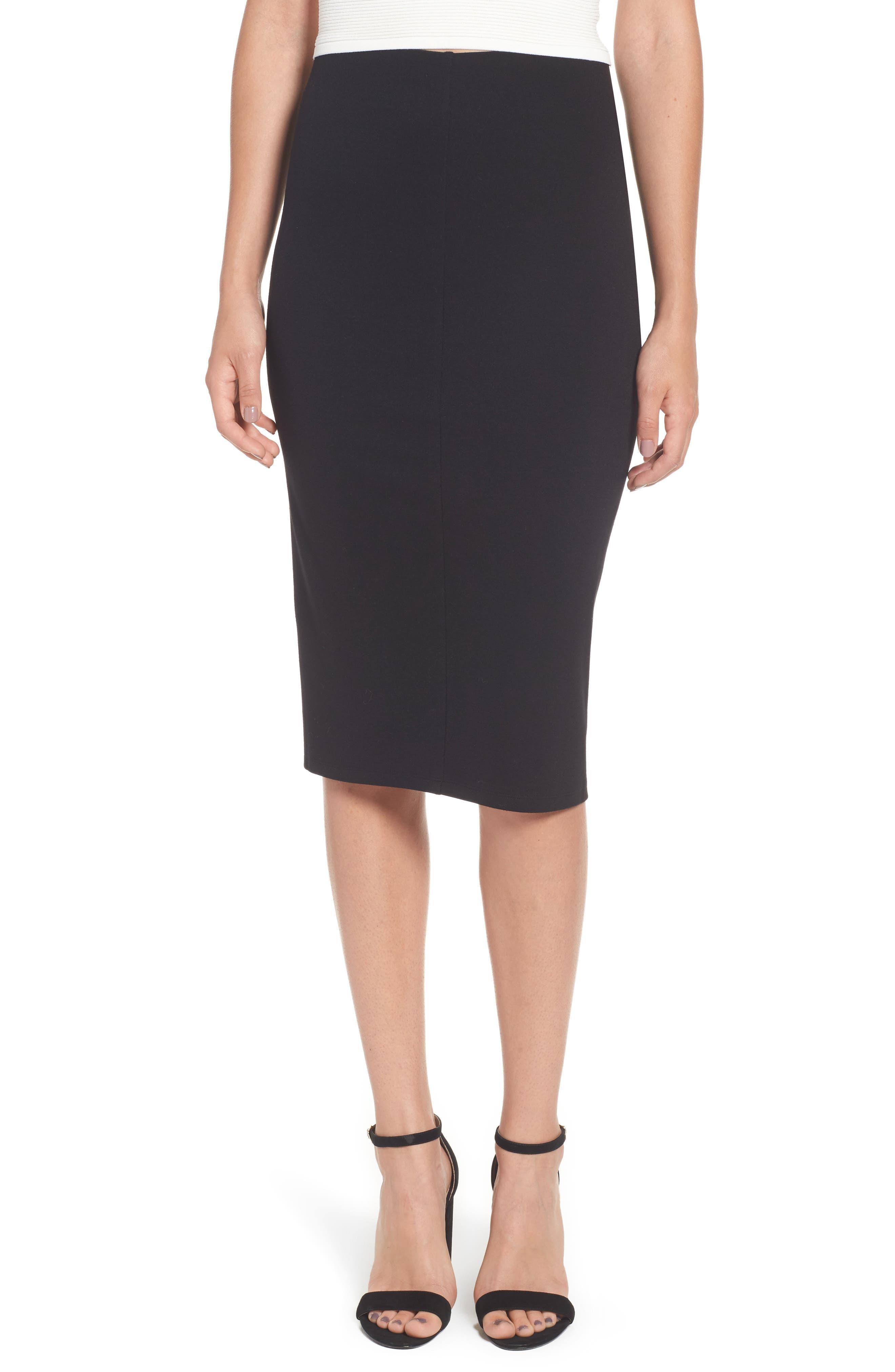 Ponte Skirt,                         Main,                         color, 001