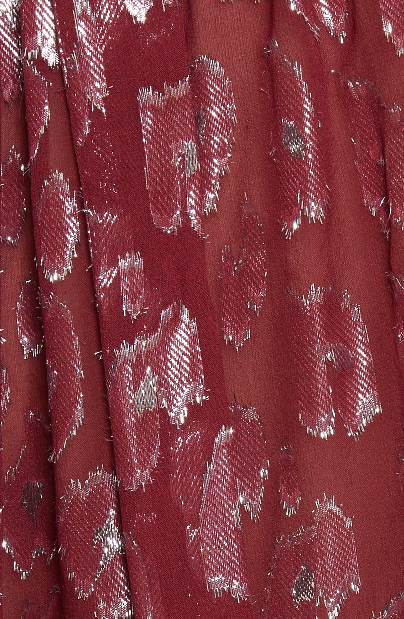 Brooks Metallic Silk Blouse,                             Alternate thumbnail 5, color,                             641