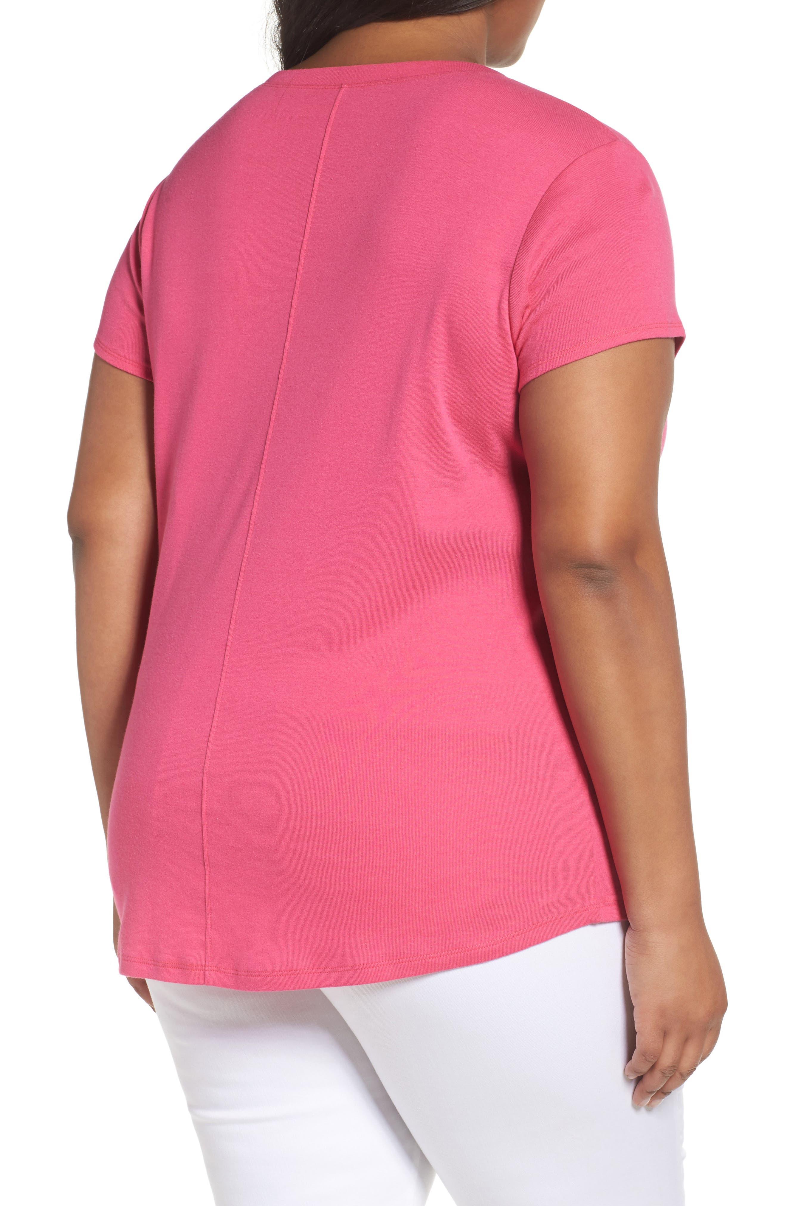 Short Sleeve V-Neck Tee,                             Alternate thumbnail 70, color,