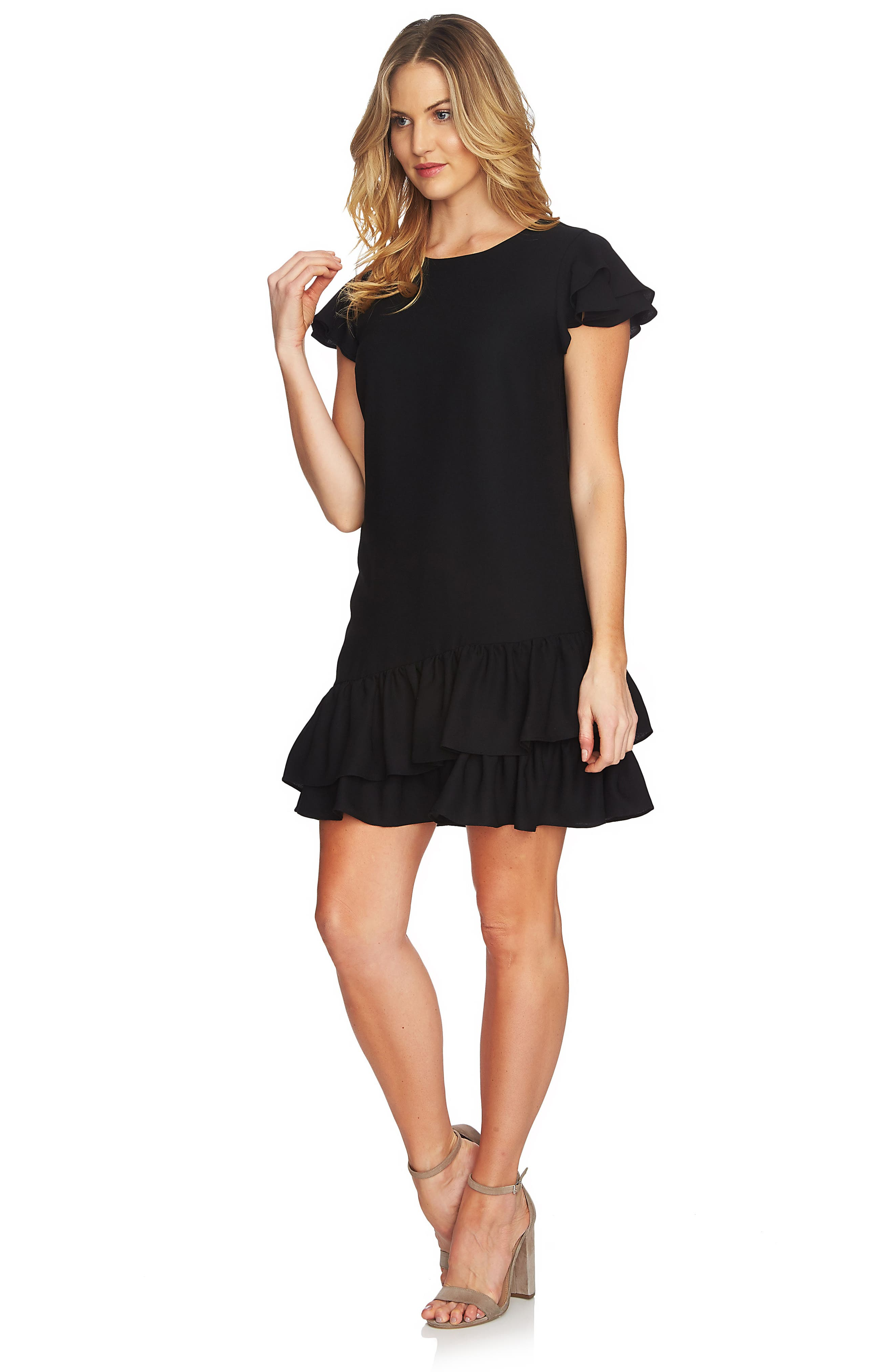 Claire Tiered Ruffle Dress,                             Alternate thumbnail 5, color,