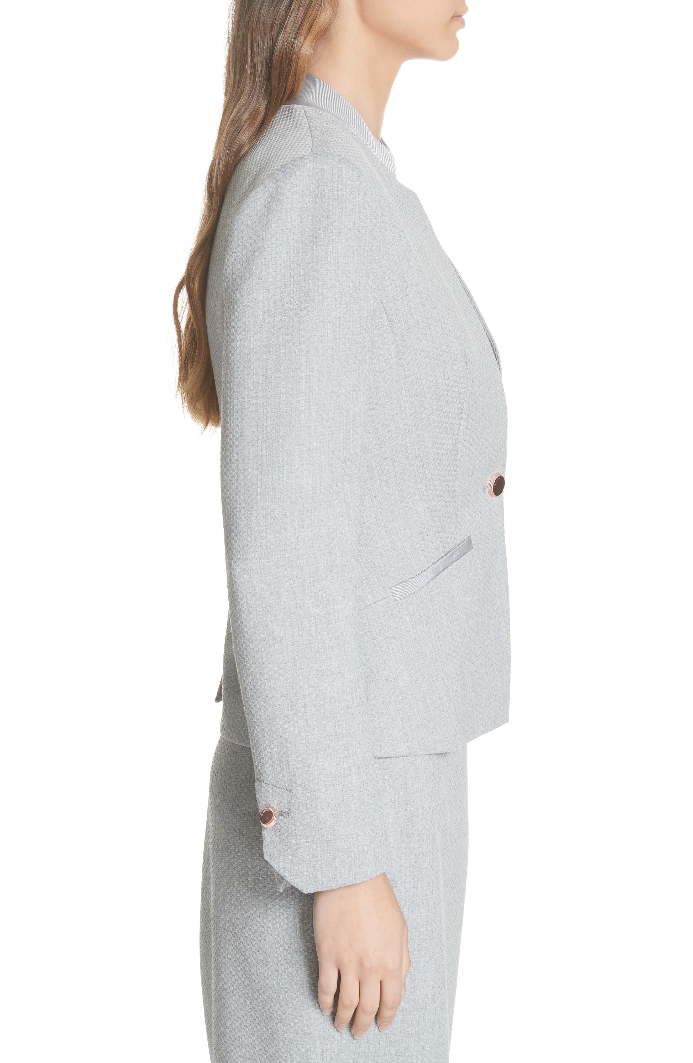 Ted Working Title Daizi Suit Jacket,                             Alternate thumbnail 3, color,                             GREY