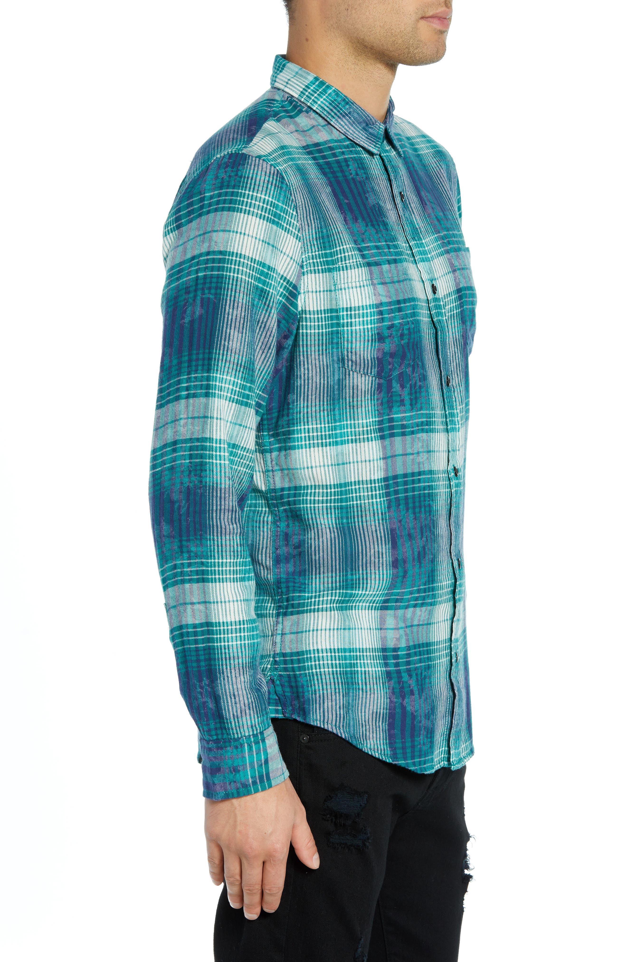 Beach Plaid Shirt,                             Alternate thumbnail 4, color,                             449