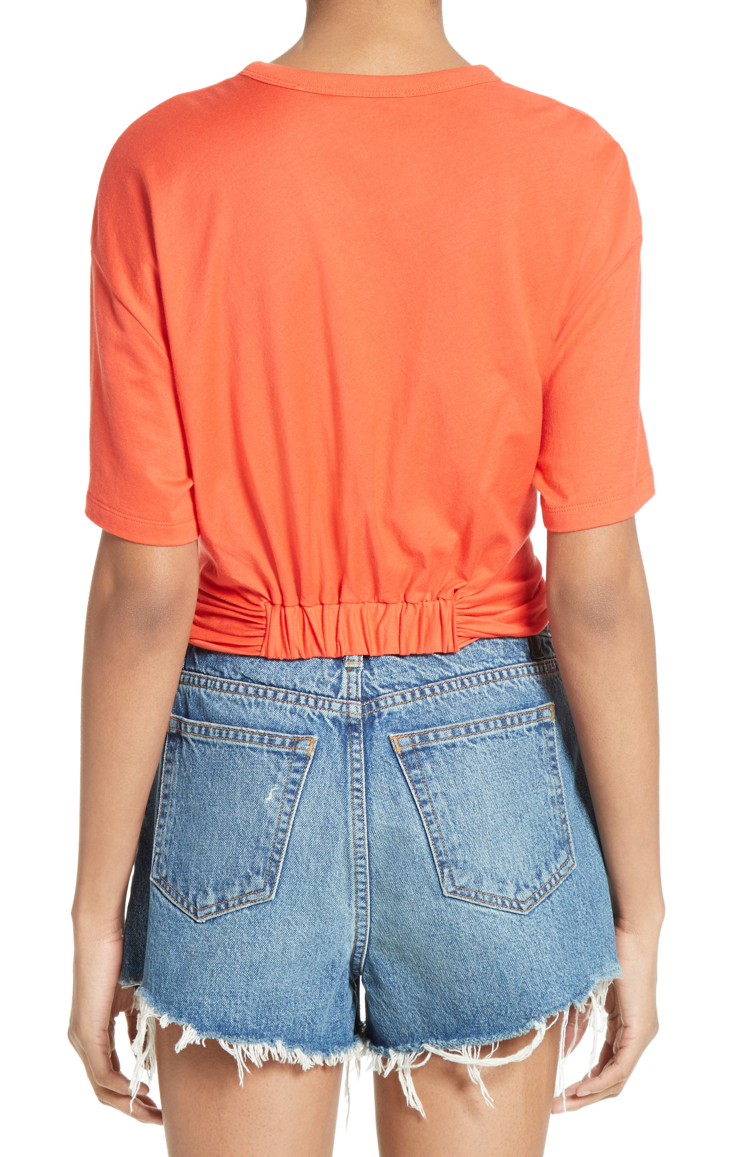 T by Alexander Wang Twist Front Tee,                             Alternate thumbnail 2, color,                             624