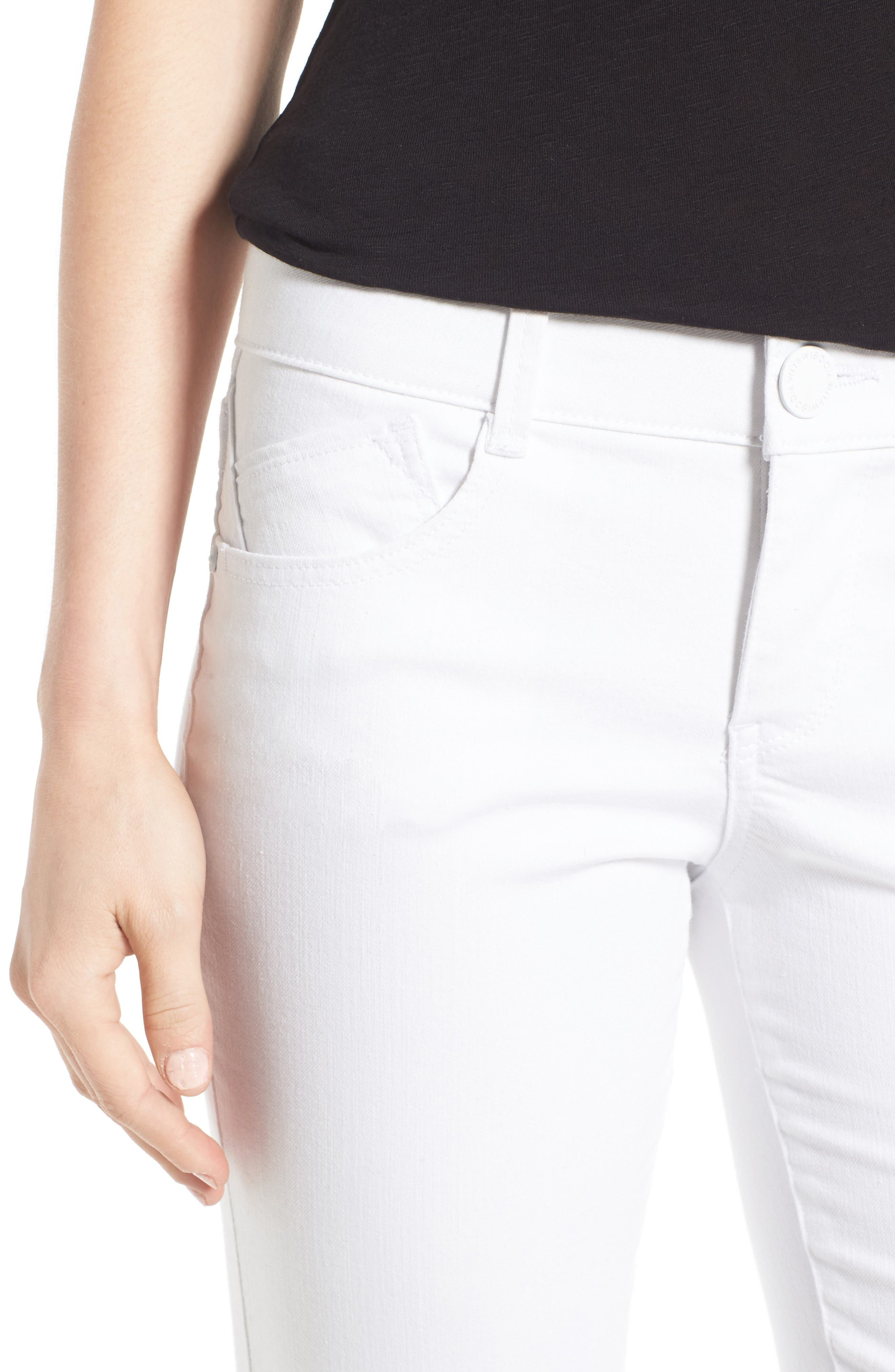 Ab-solution Skinny Crop Jeans,                             Alternate thumbnail 4, color,                             101