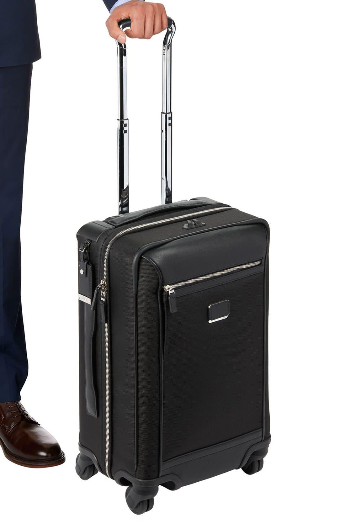 'Astor - Osborne' 4-Wheeled Carry-On Suitcase,                             Alternate thumbnail 5, color,                             001