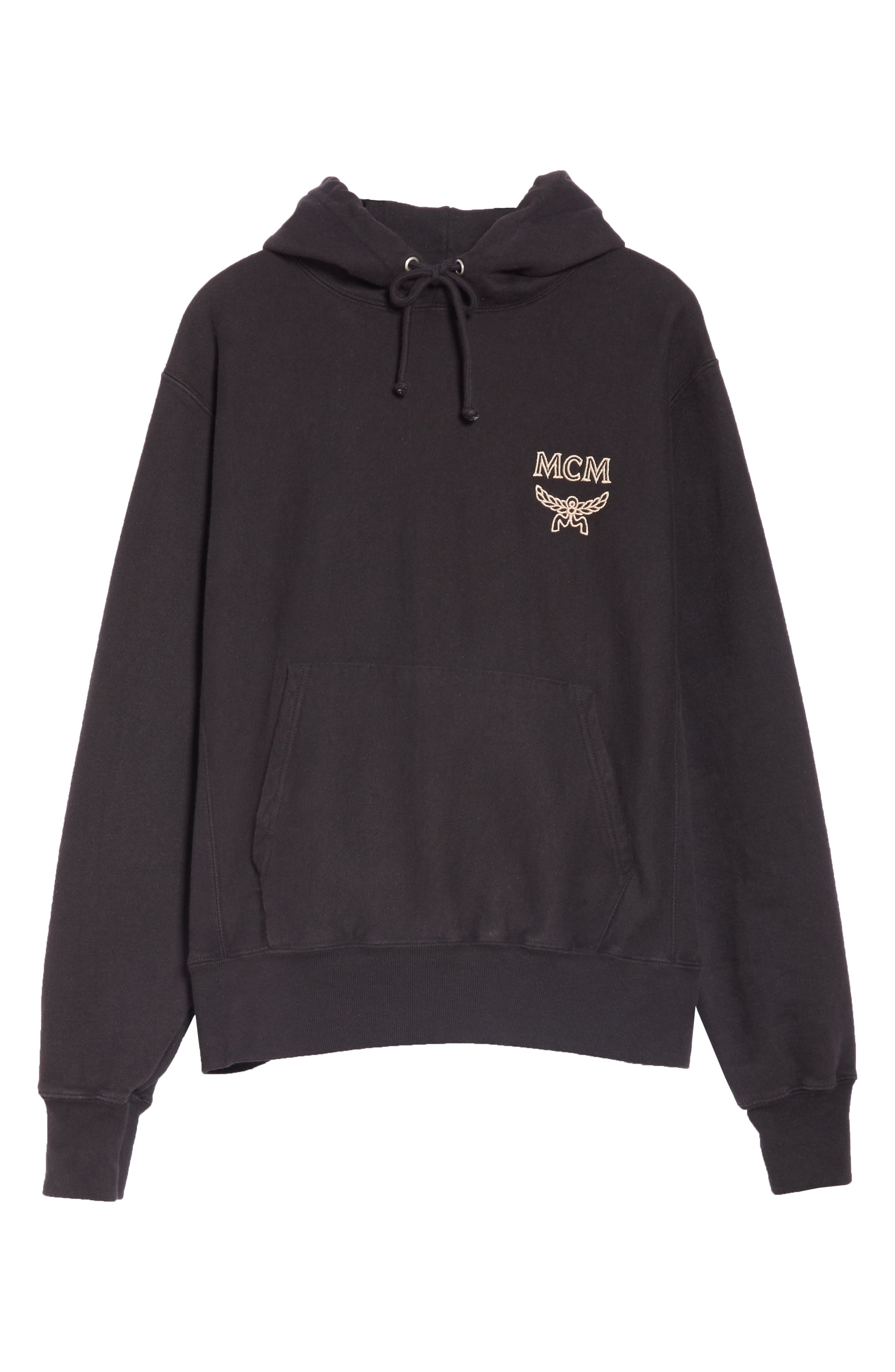 x MCM Pullover Hoodie,                         Main,                         color, 001
