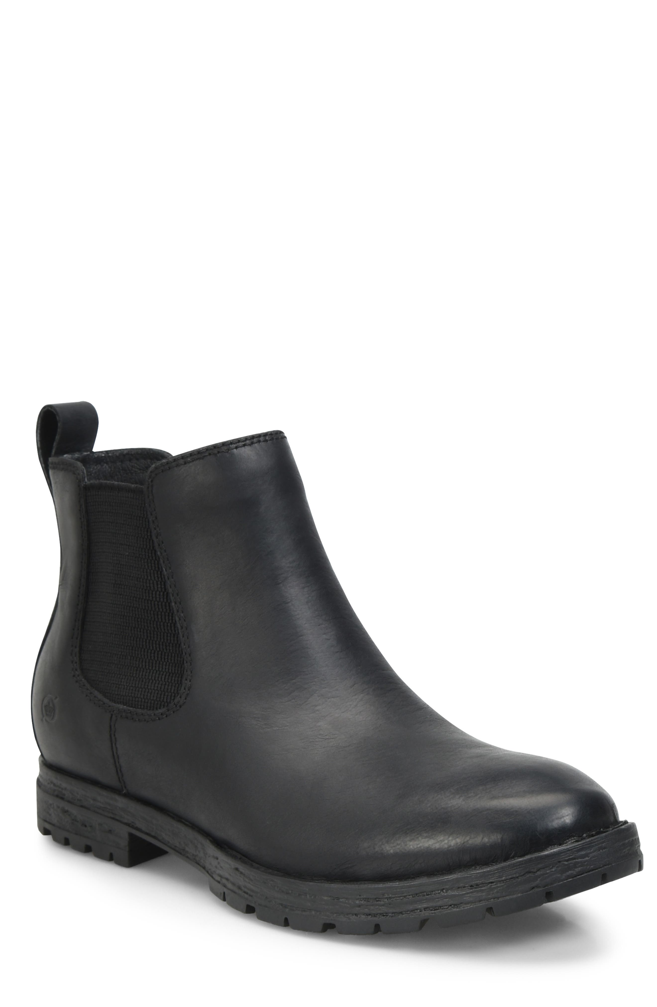 Pike Mid Waterproof Chelsea Boot, Main, color, BLACK LEATHER