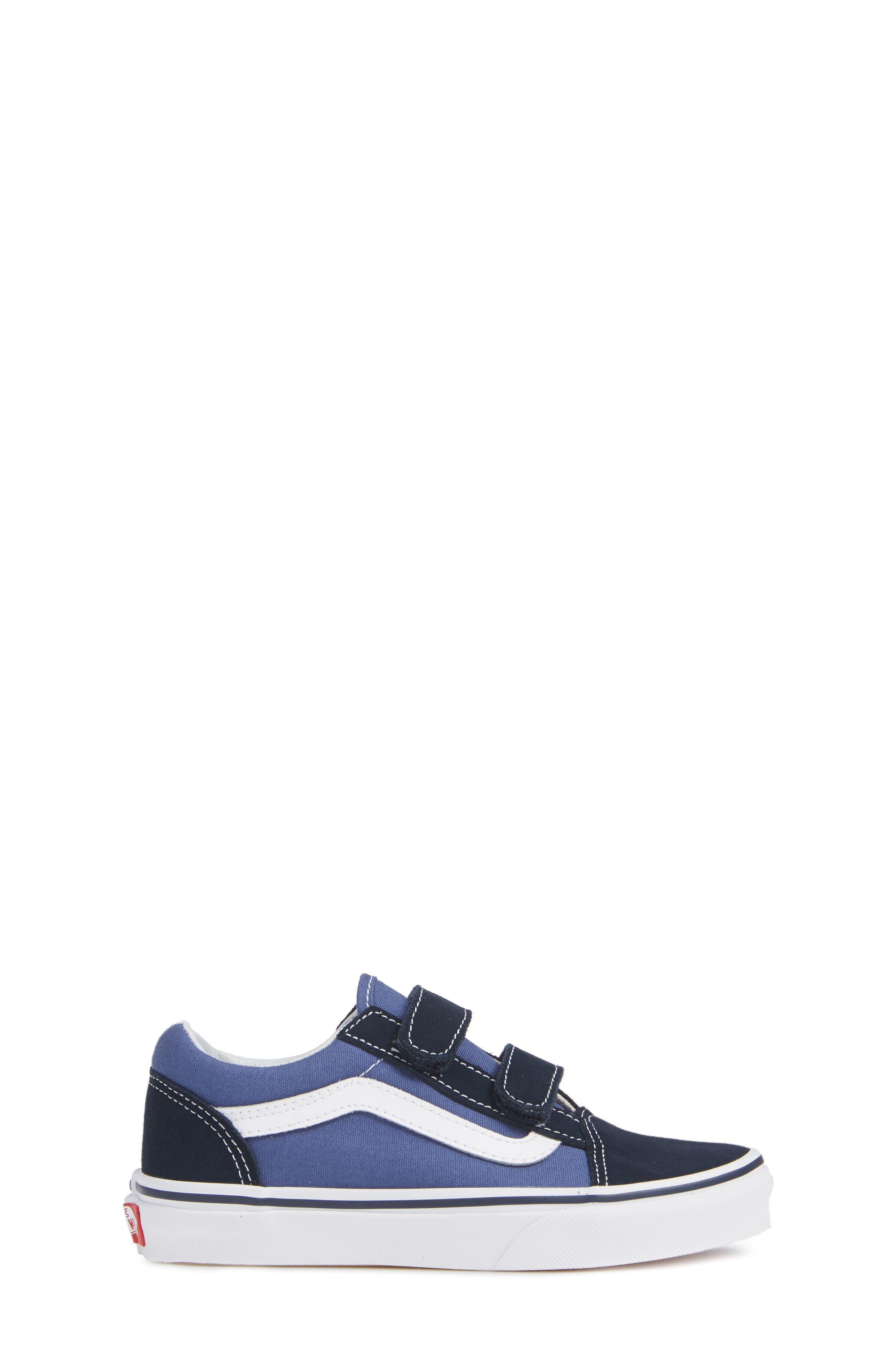 Old Skool V Sneaker,                             Alternate thumbnail 3, color,                             NAVY/ TRUE WHITE