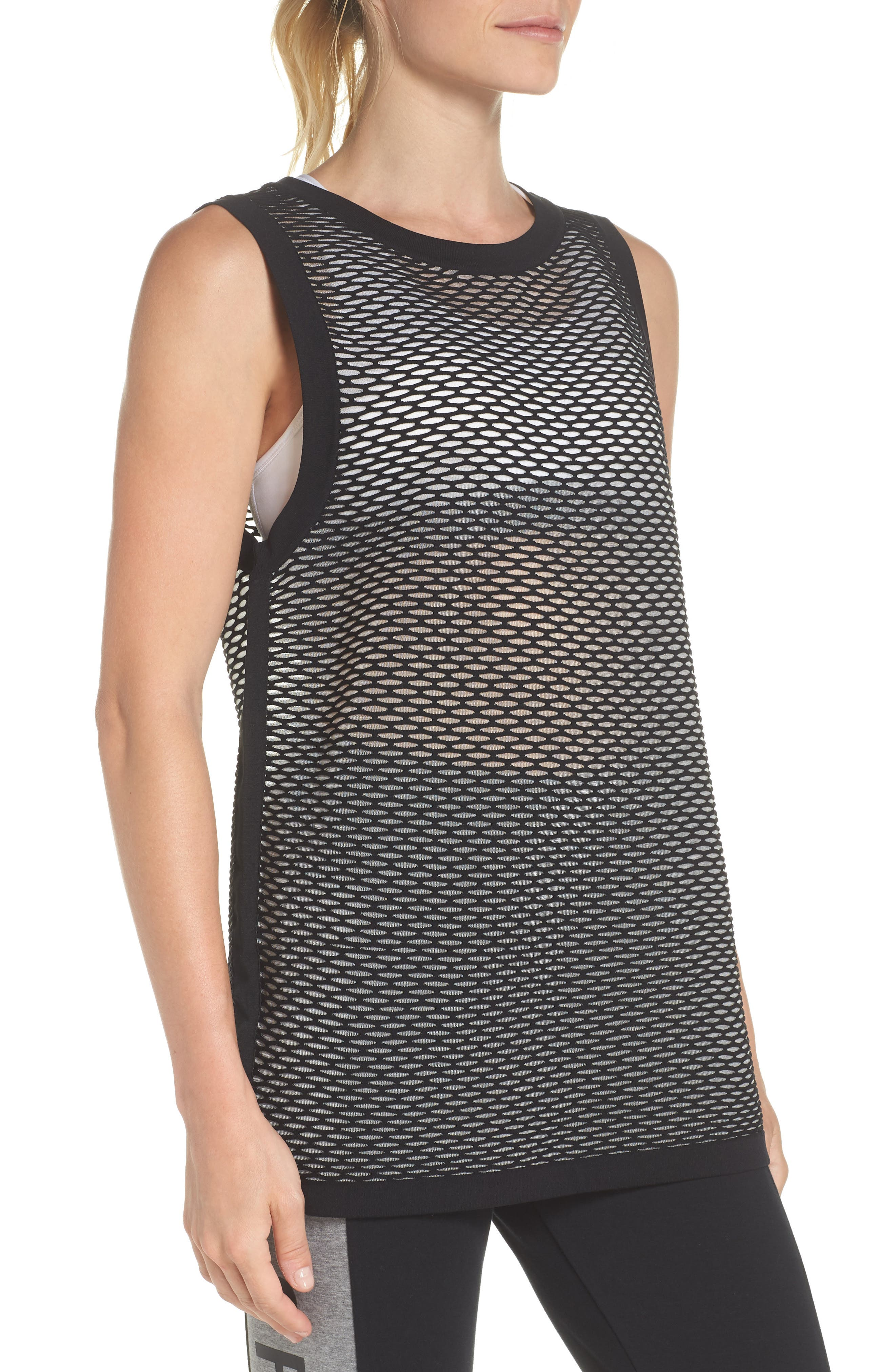 ab Collection Women's Knit Basketball Tank,                             Alternate thumbnail 3, color,                             010