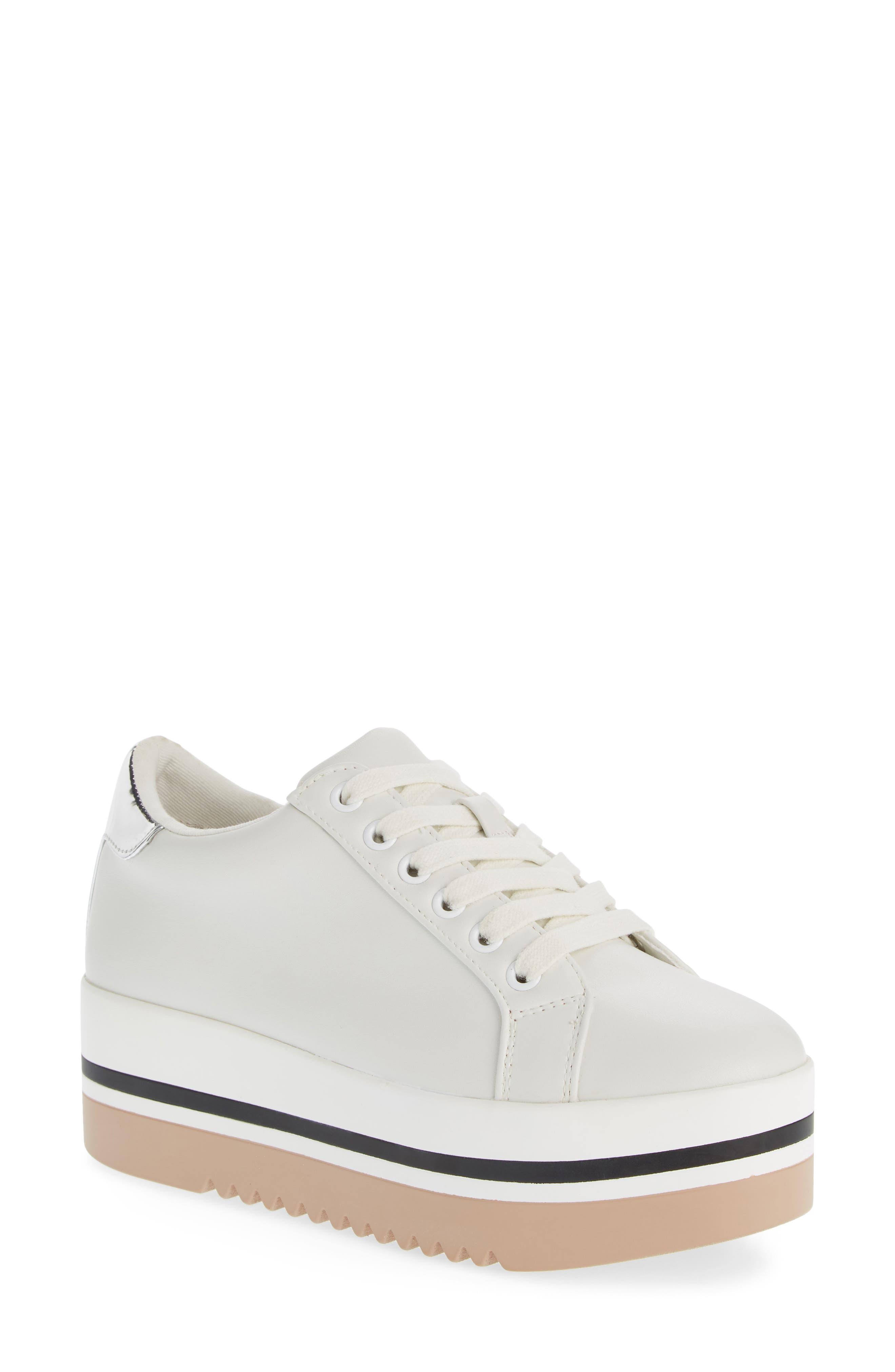 Alley Platform Sneaker,                         Main,                         color, WHITE