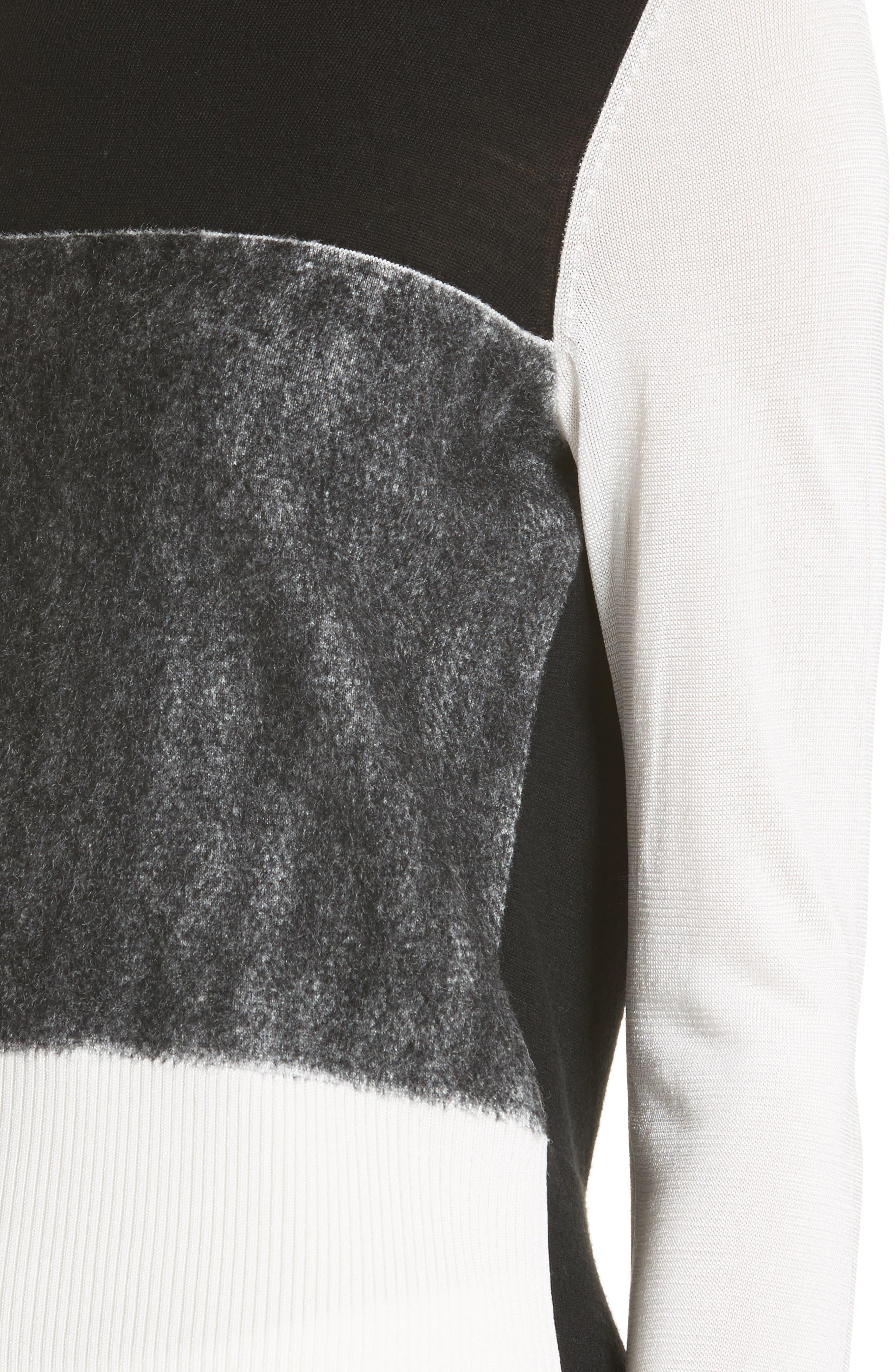 Marissa Colorblock Sweater,                             Alternate thumbnail 4, color,                             017