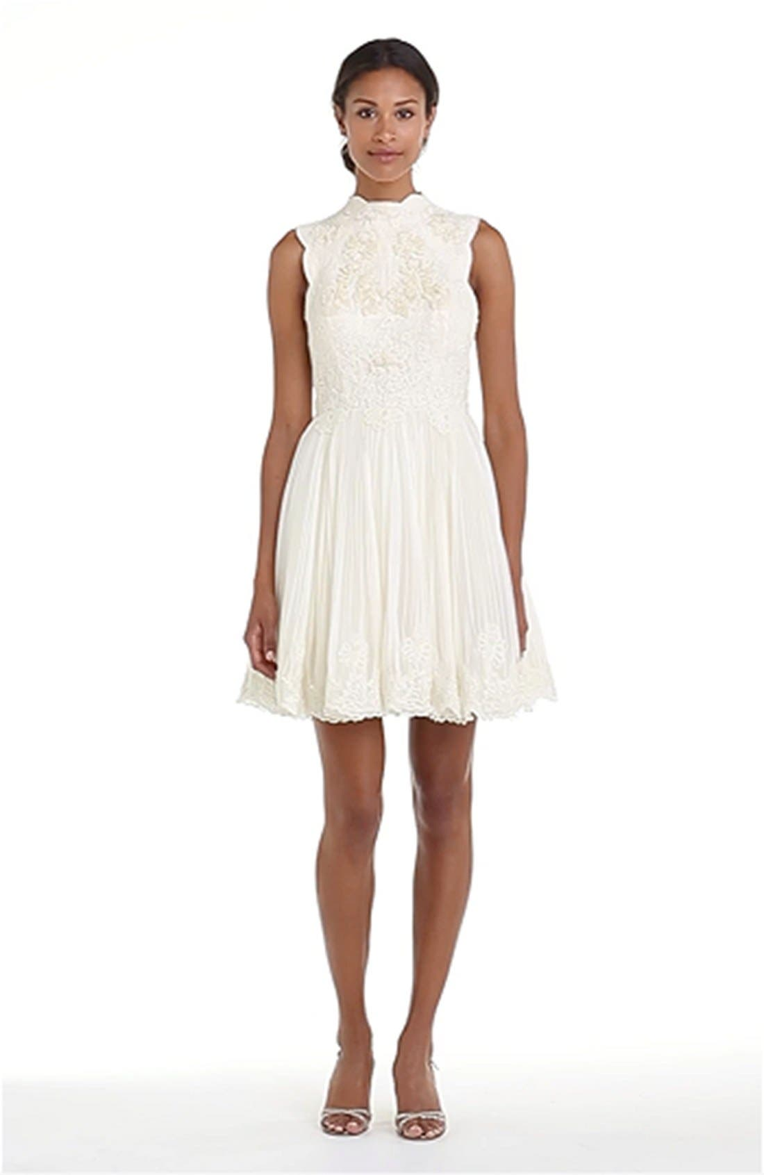 'Telago' Embroidered Tulle Frock,                             Alternate thumbnail 2, color,                             900