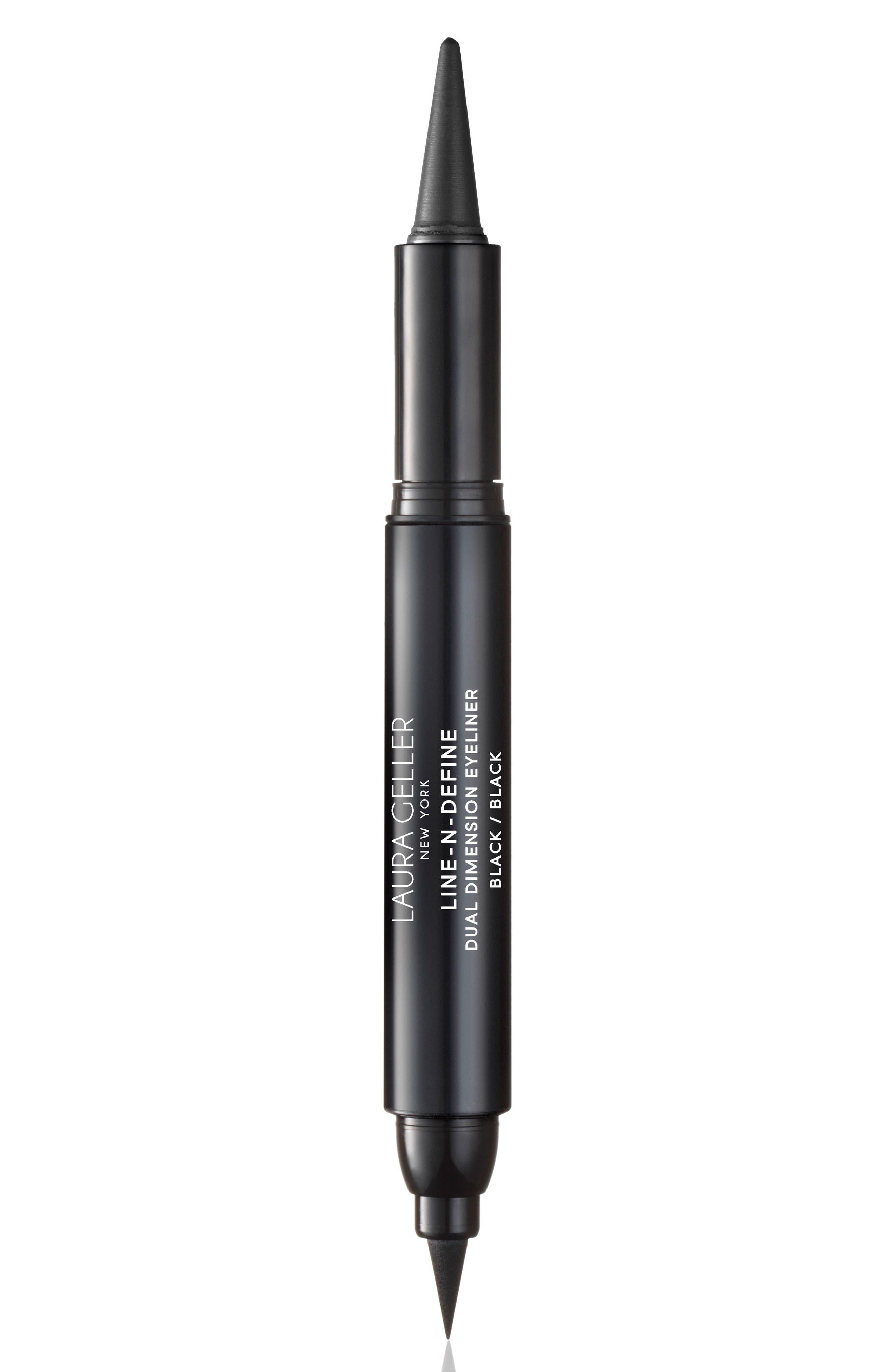 LAURA GELLER BEAUTY Line-N-Define Dual Dimension Eyeliner, Main, color, BLACK