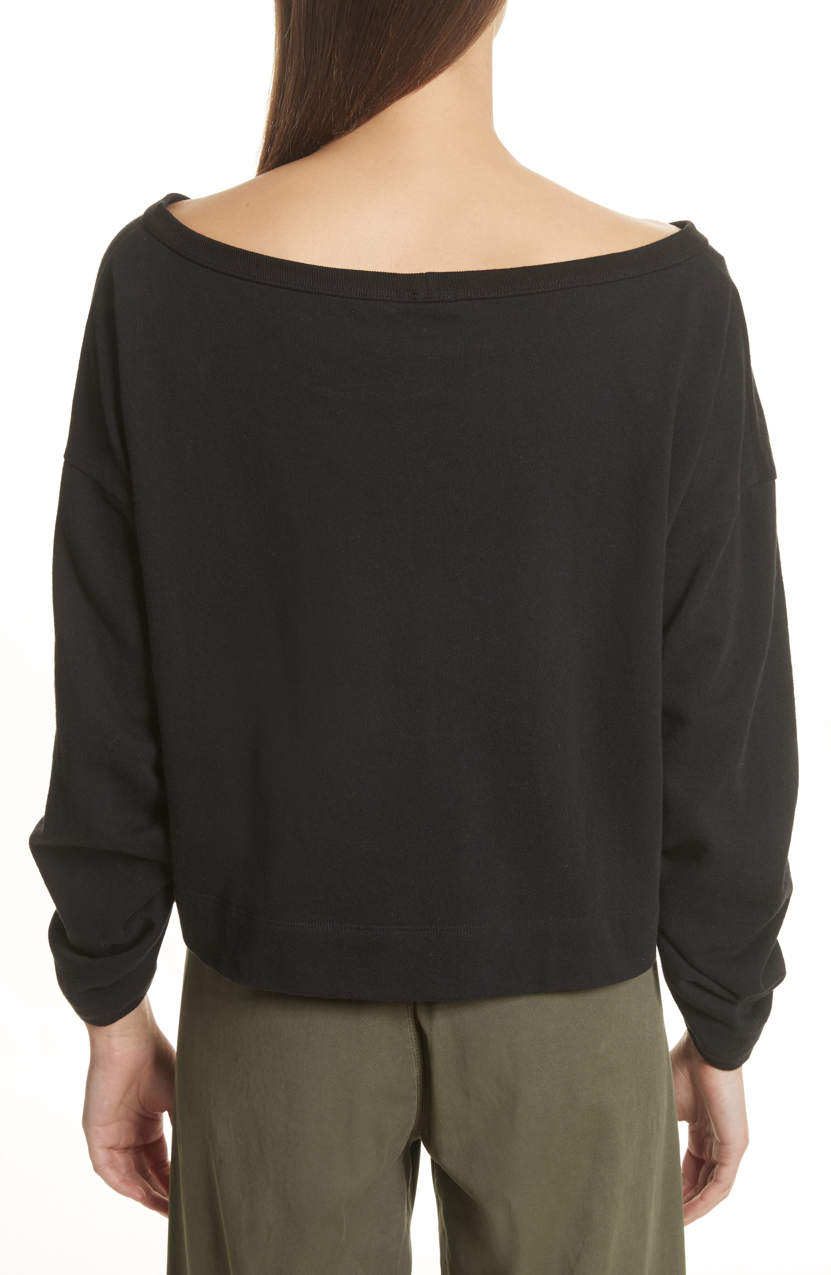 Ember Ruched Sleeve Sweatshirt,                             Alternate thumbnail 3, color,