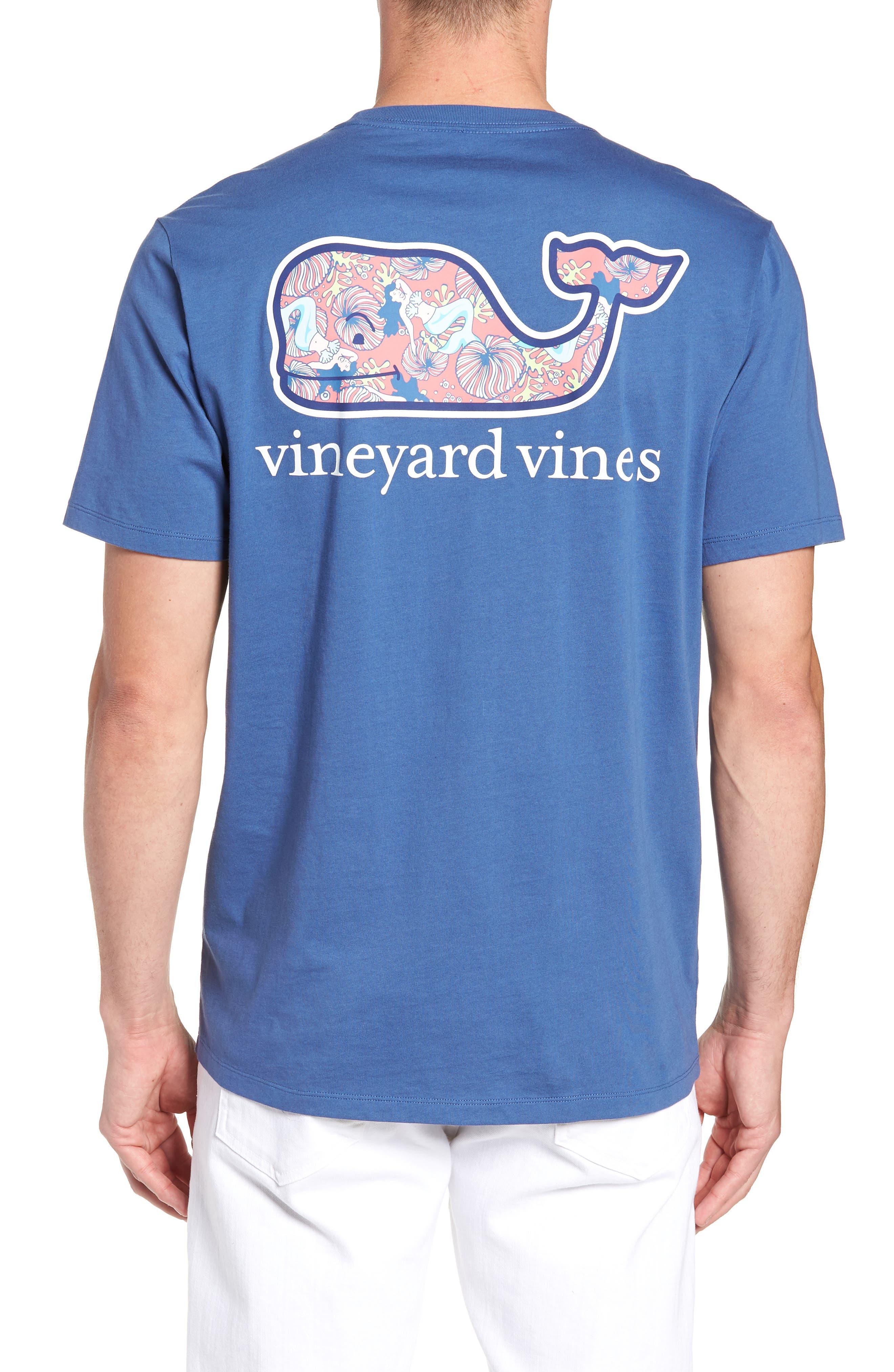 Mermaids Whale Fill Graphic Pocket T-Shirt,                             Alternate thumbnail 2, color,