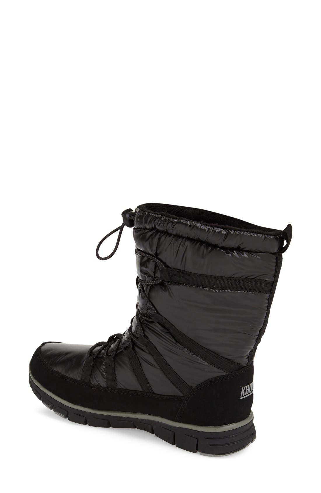 KHOMBU,                             'Diamond' Waterproof Snow Boot,                             Alternate thumbnail 2, color,                             001