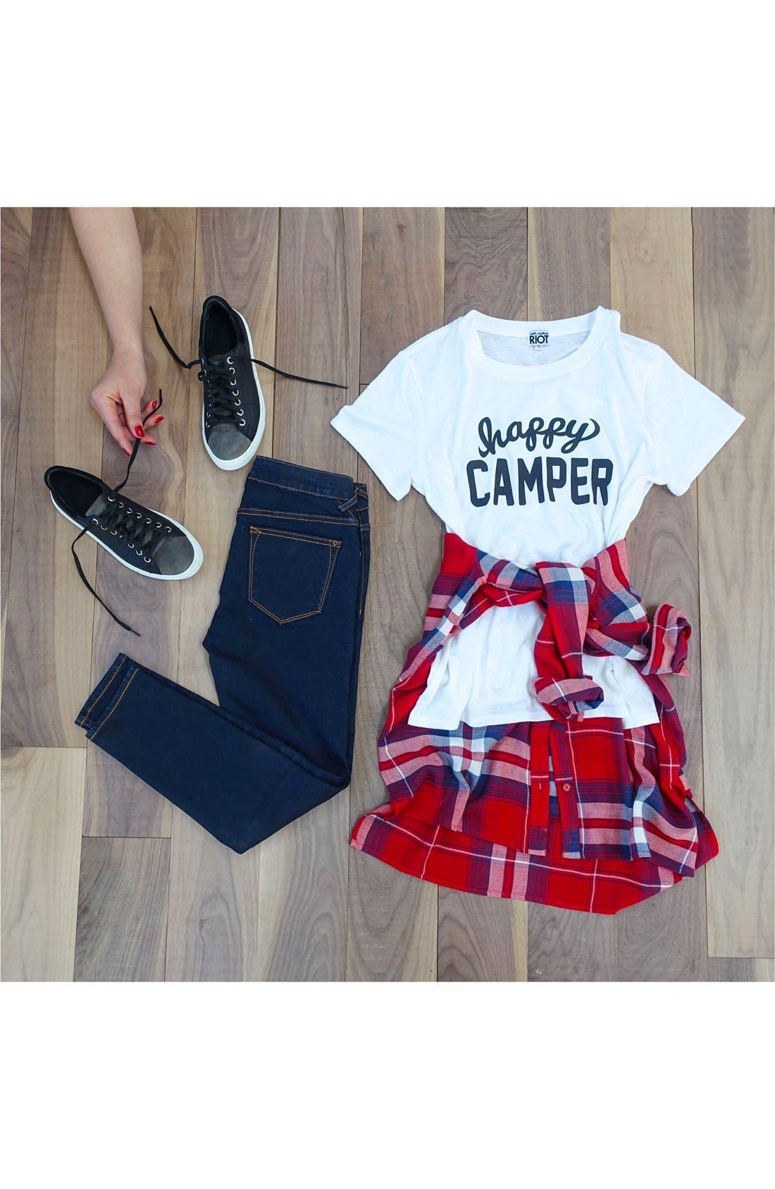 Plaid Tunic Shirt,                         Main,                         color, 420