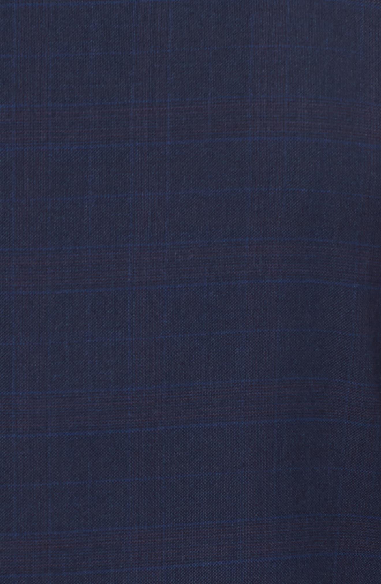 Ryan Classic Fit Plaid Wool Suit,                             Alternate thumbnail 7, color,                             410