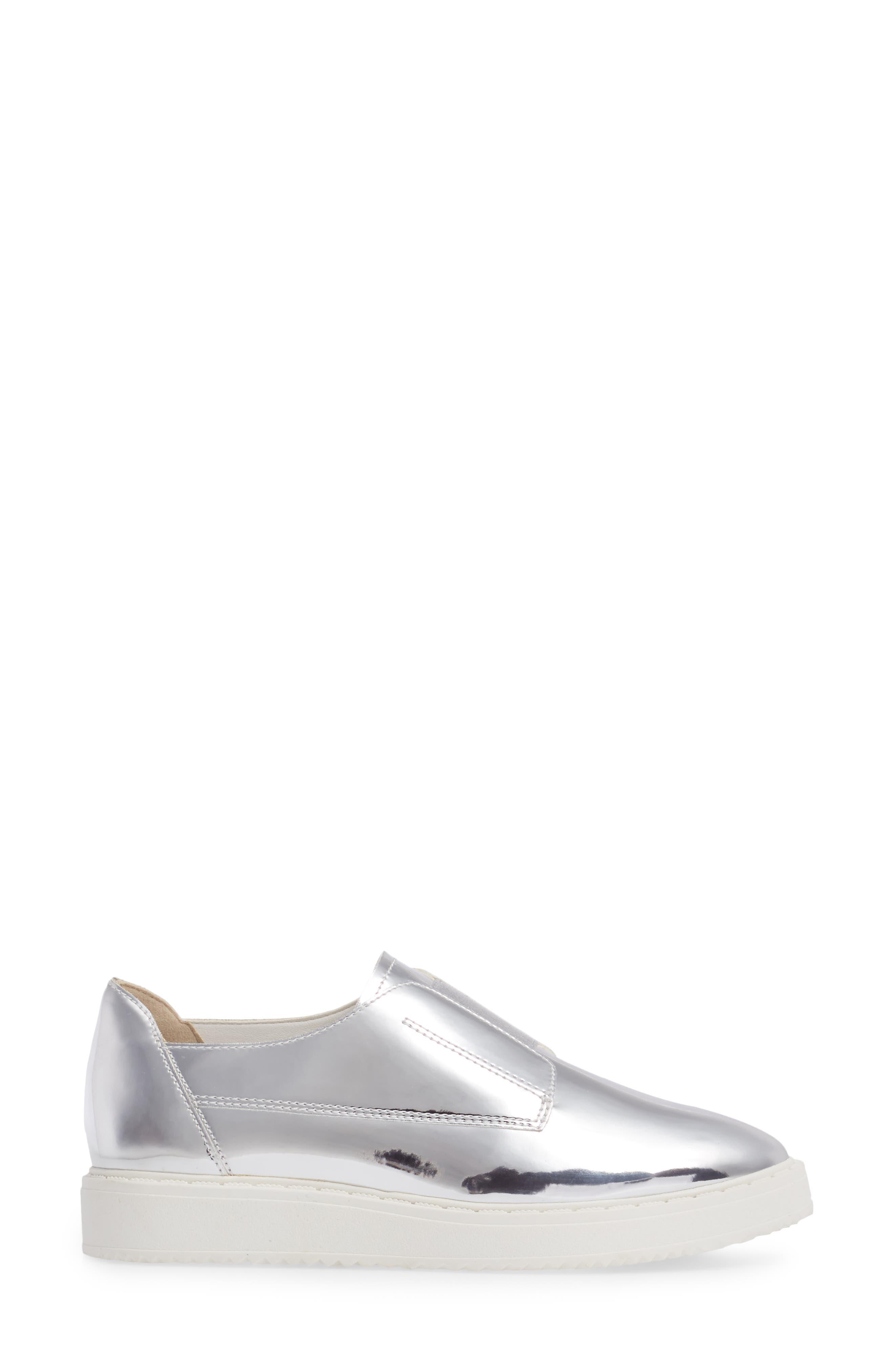 Trist Slip-On Metallic Sneaker,                             Alternate thumbnail 3, color,                             045