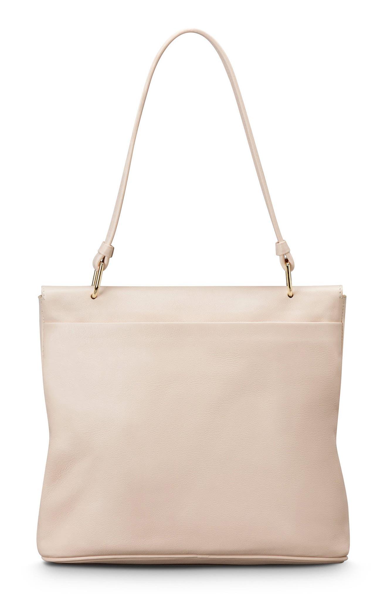 Birdy Leather Shoulder Bag,                             Alternate thumbnail 3, color,                             SOFT BLUSH