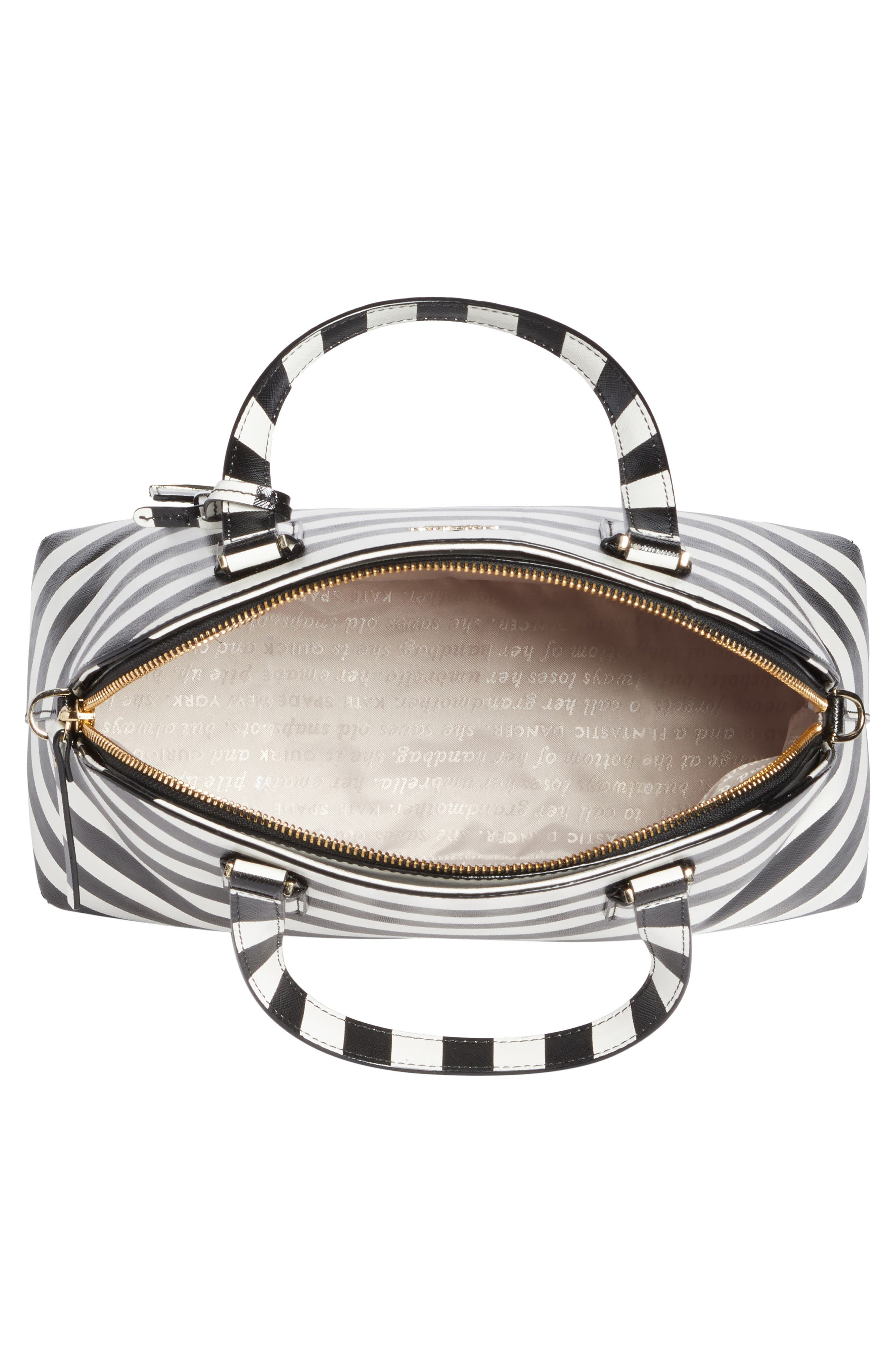 cameron street - lottie stripe satchel,                             Alternate thumbnail 4, color,