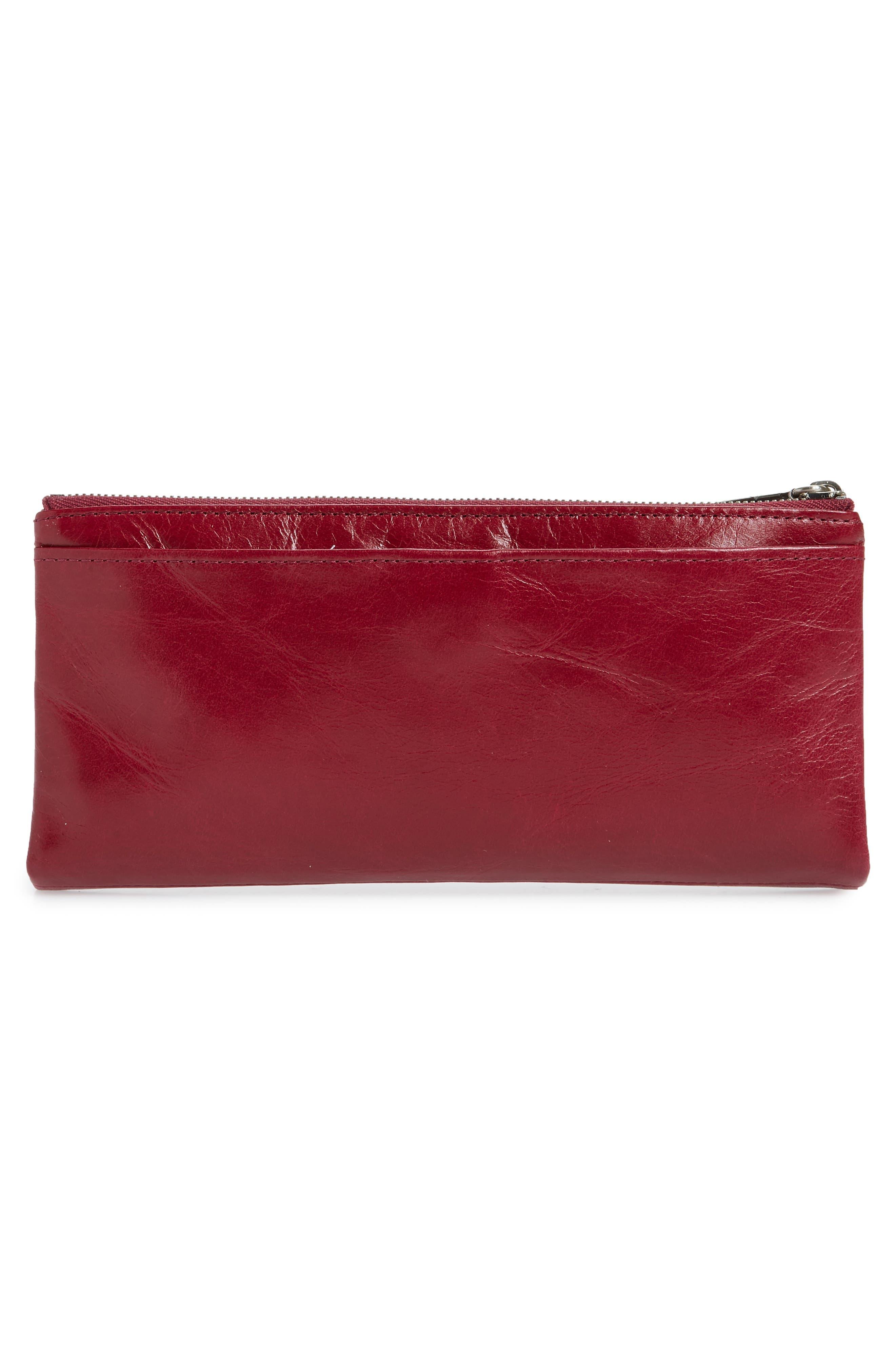 Taylor Glazed Wallet,                             Alternate thumbnail 3, color,                             RUBY
