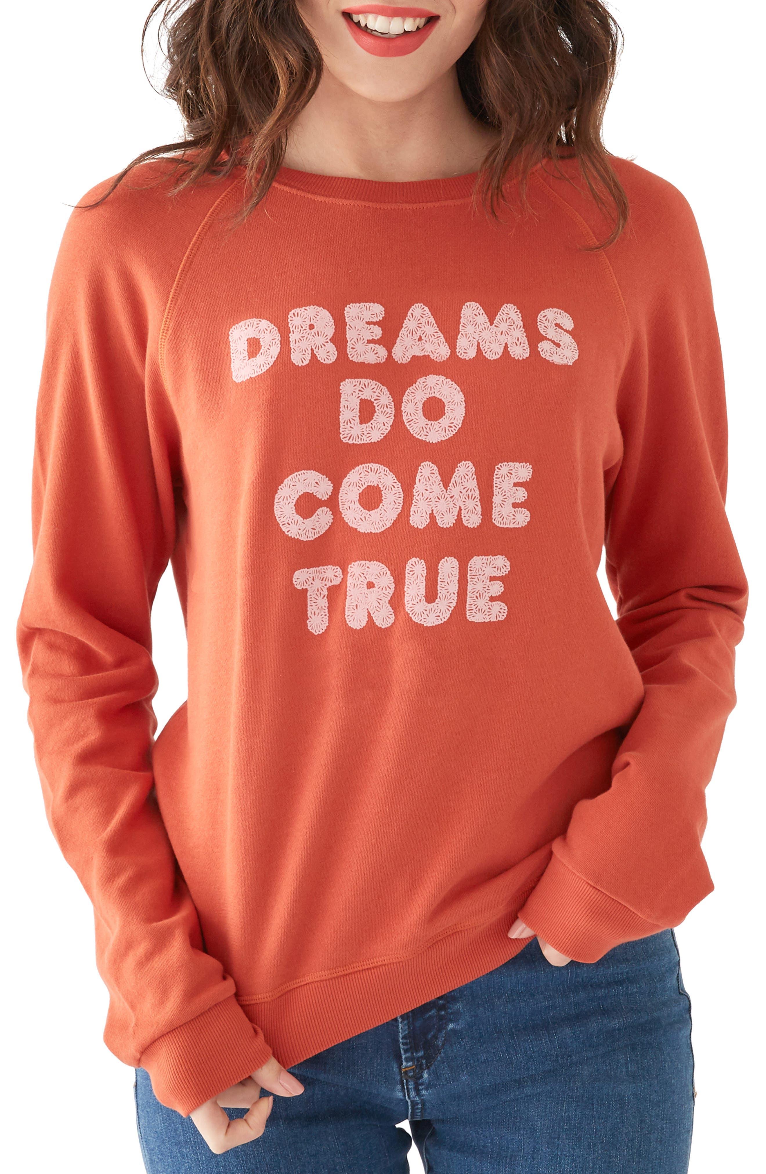 BAN.DO Ban. Do Dreams Do Come True Sweatshirt in Rust