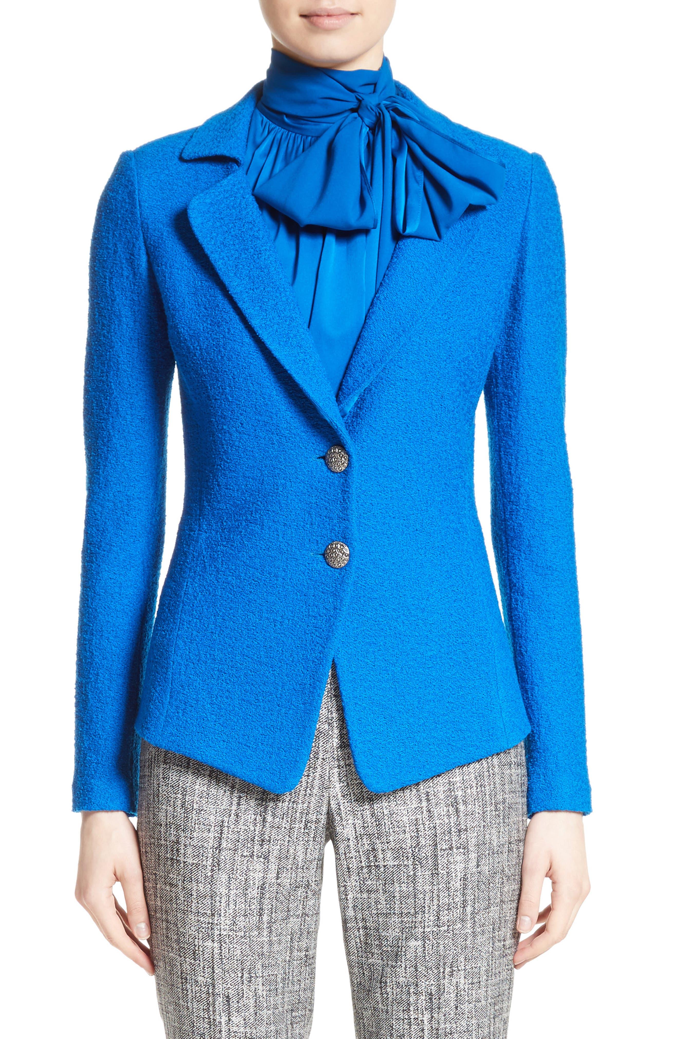 Clair Knit Peplum Jacket,                         Main,                         color,