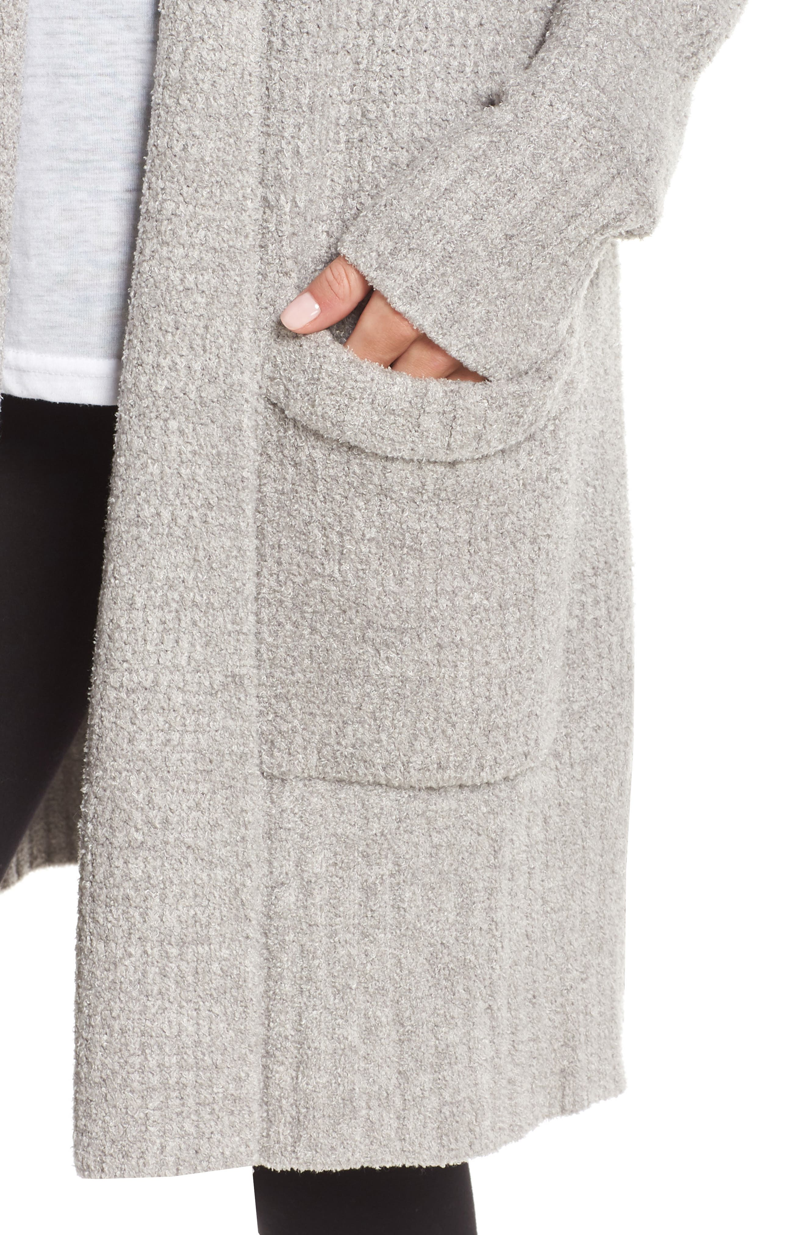 CozyChic<sup>®</sup> Lite Long Weekend Cardigan,                             Alternate thumbnail 4, color,                             PEWTER/ SILVER