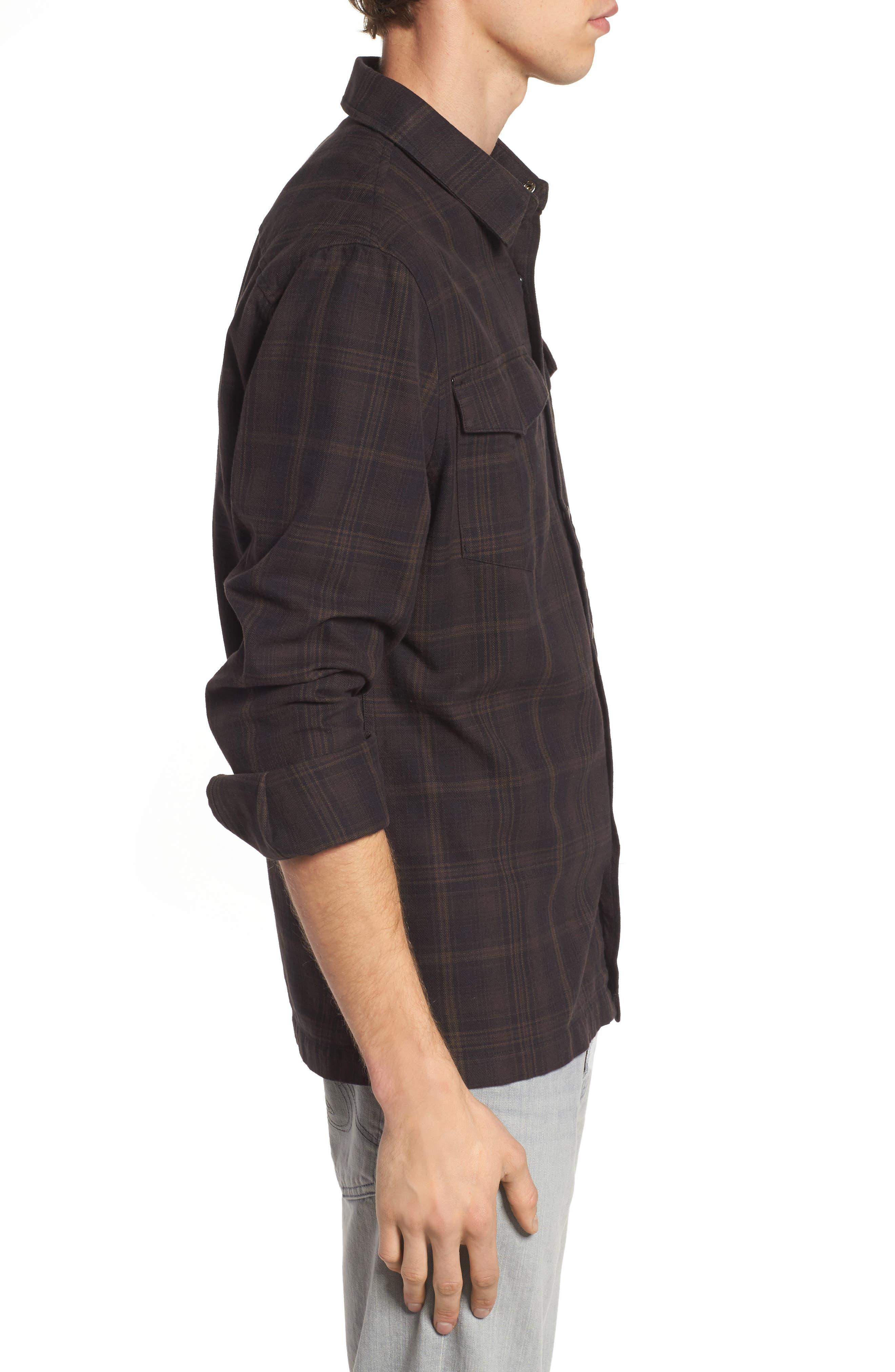 Boone Slim Plaid Overshirt,                             Alternate thumbnail 3, color,                             200