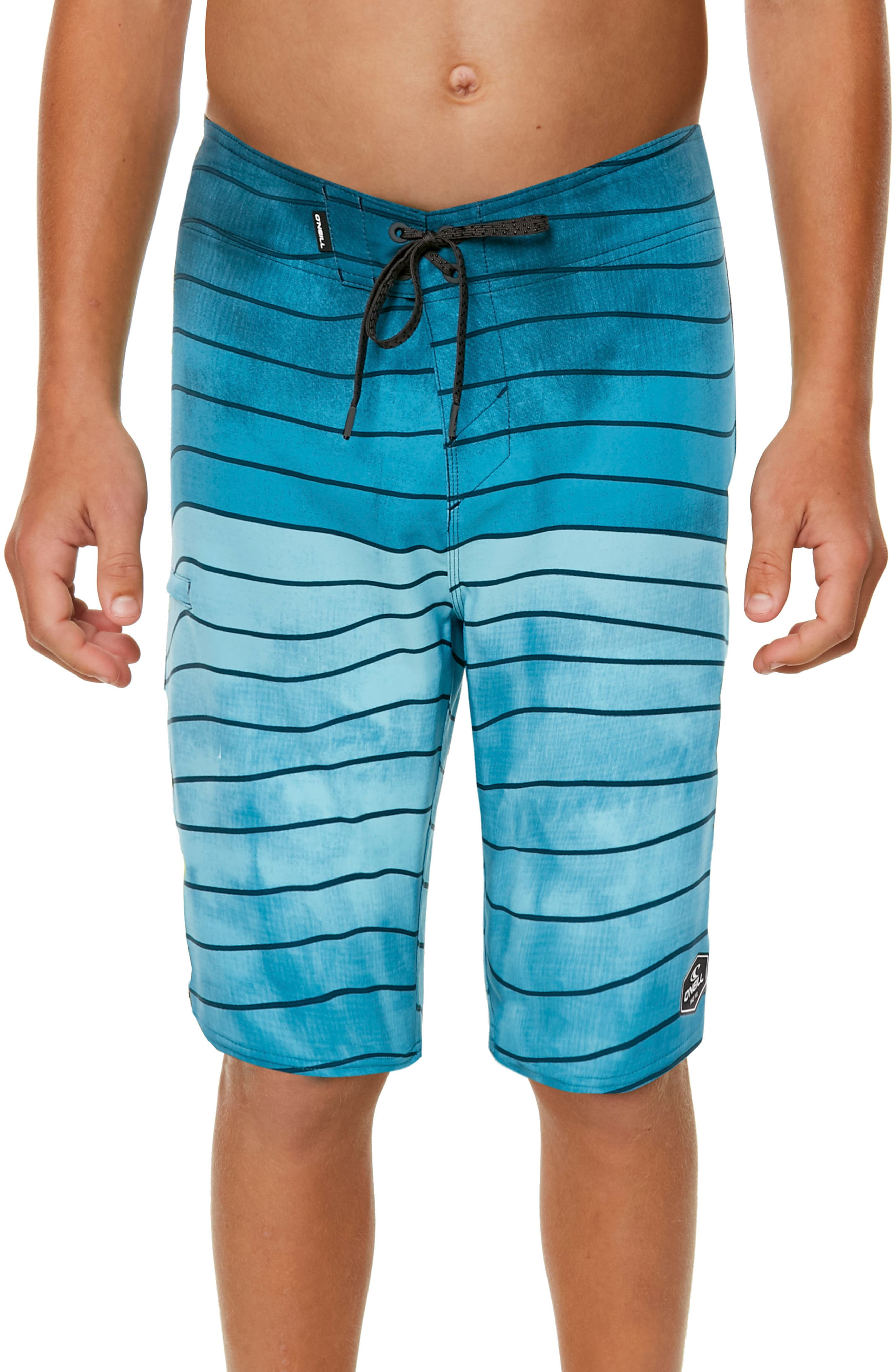 Hyperfreak Swell Stripe Board Shorts,                             Alternate thumbnail 4, color,