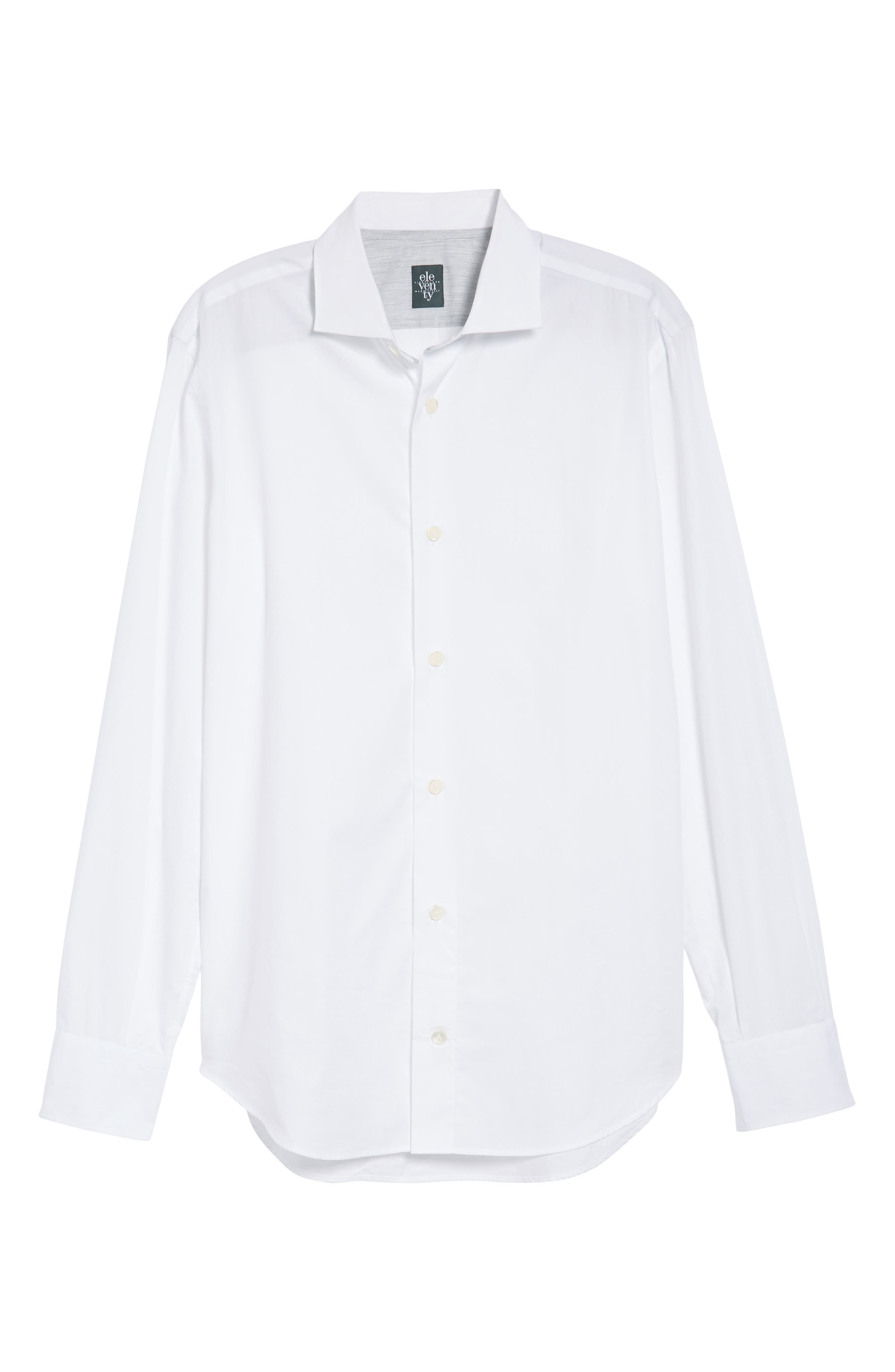 Trim Fit Sport Shirt,                             Alternate thumbnail 6, color,                             WHITE