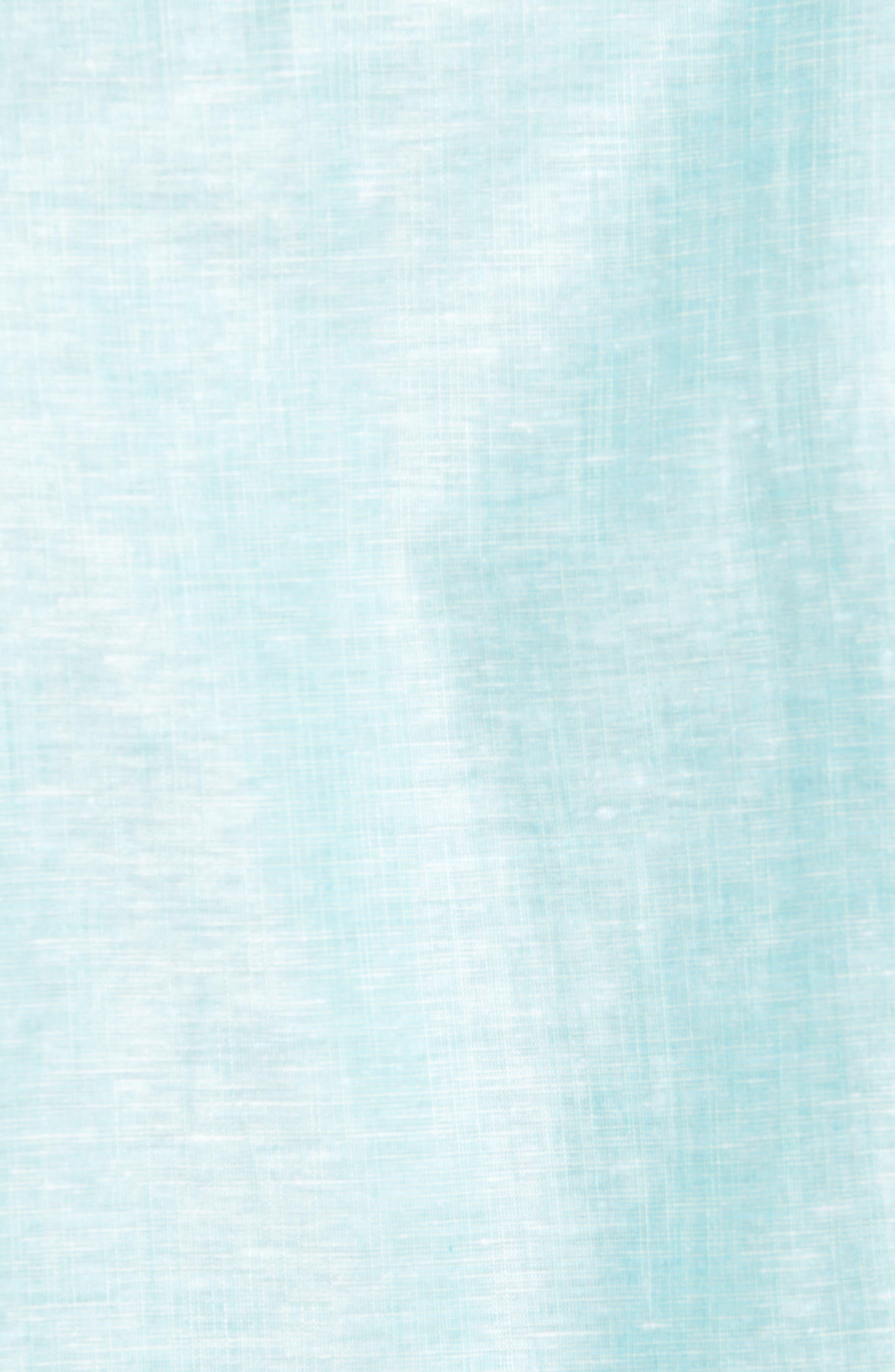 Linlins Herringbone Cotton & Linen Sport Shirt,                             Alternate thumbnail 22, color,