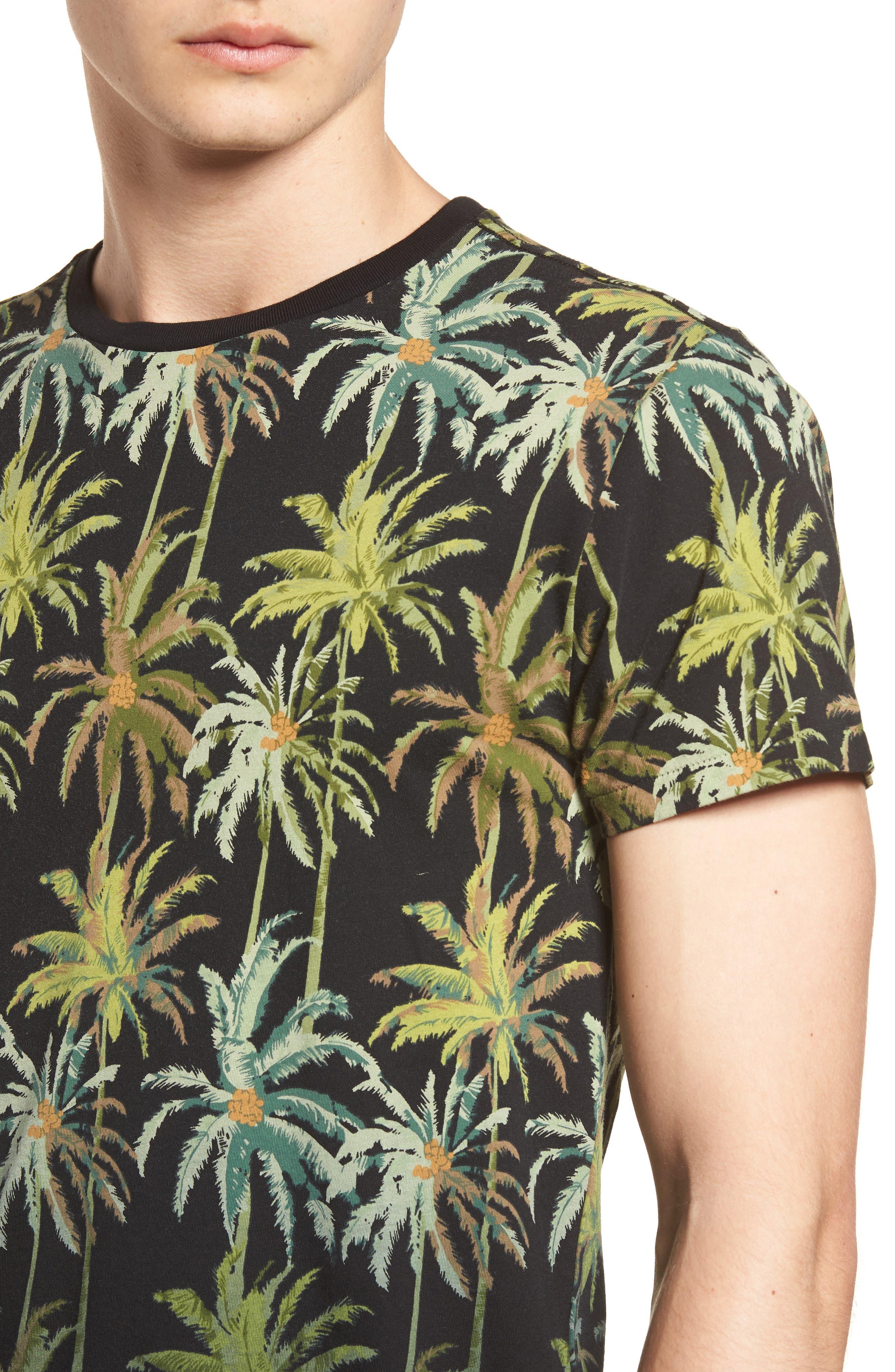 The Poolside Print T-Shirt,                             Alternate thumbnail 4, color,                             COMBO B