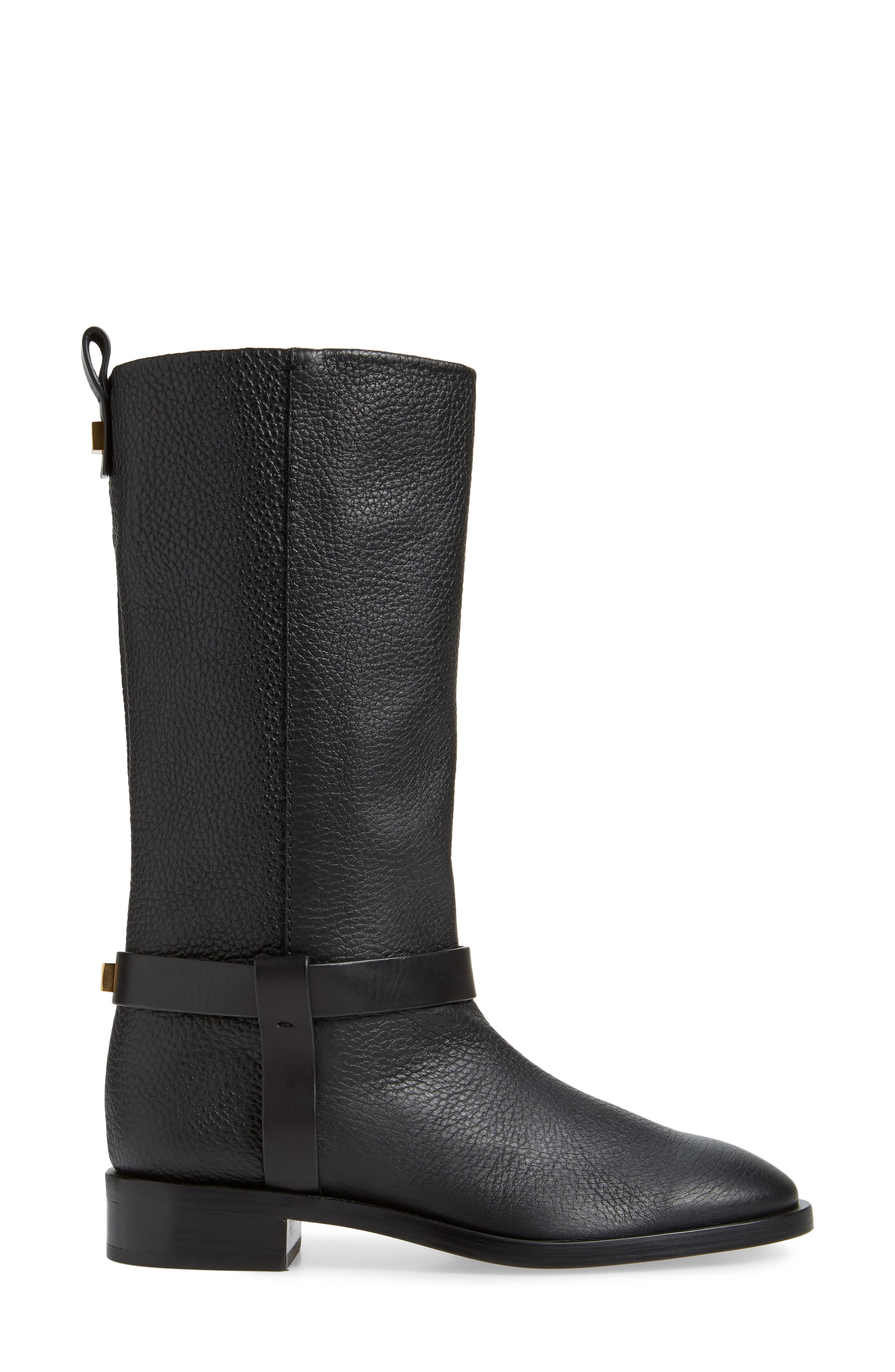 Casey Harness Boot,                             Alternate thumbnail 3, color,                             PITCH BLACK WESTPORT