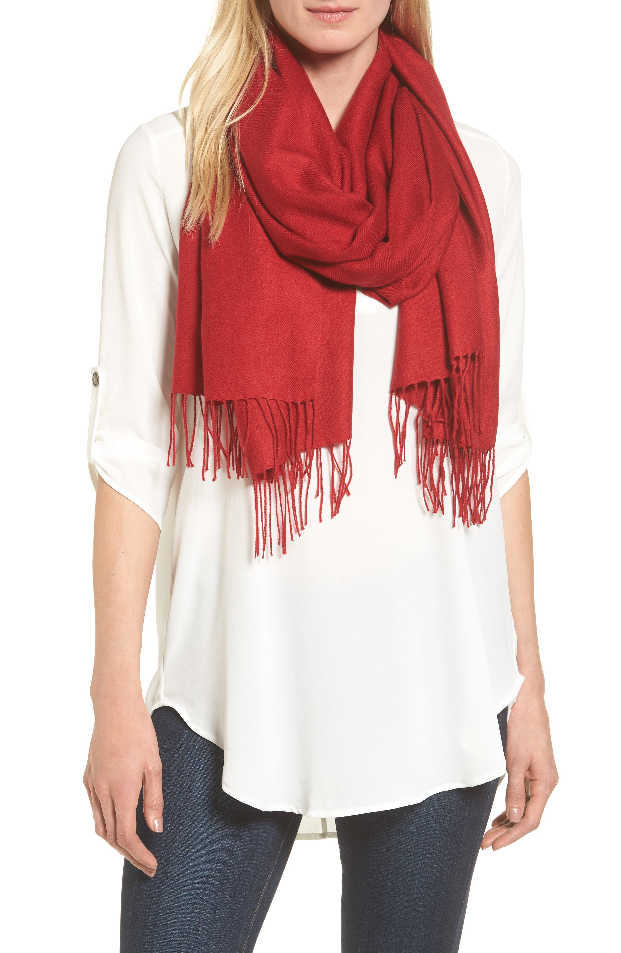 Tissue Weight Wool & Cashmere Scarf,                             Main thumbnail 59, color,