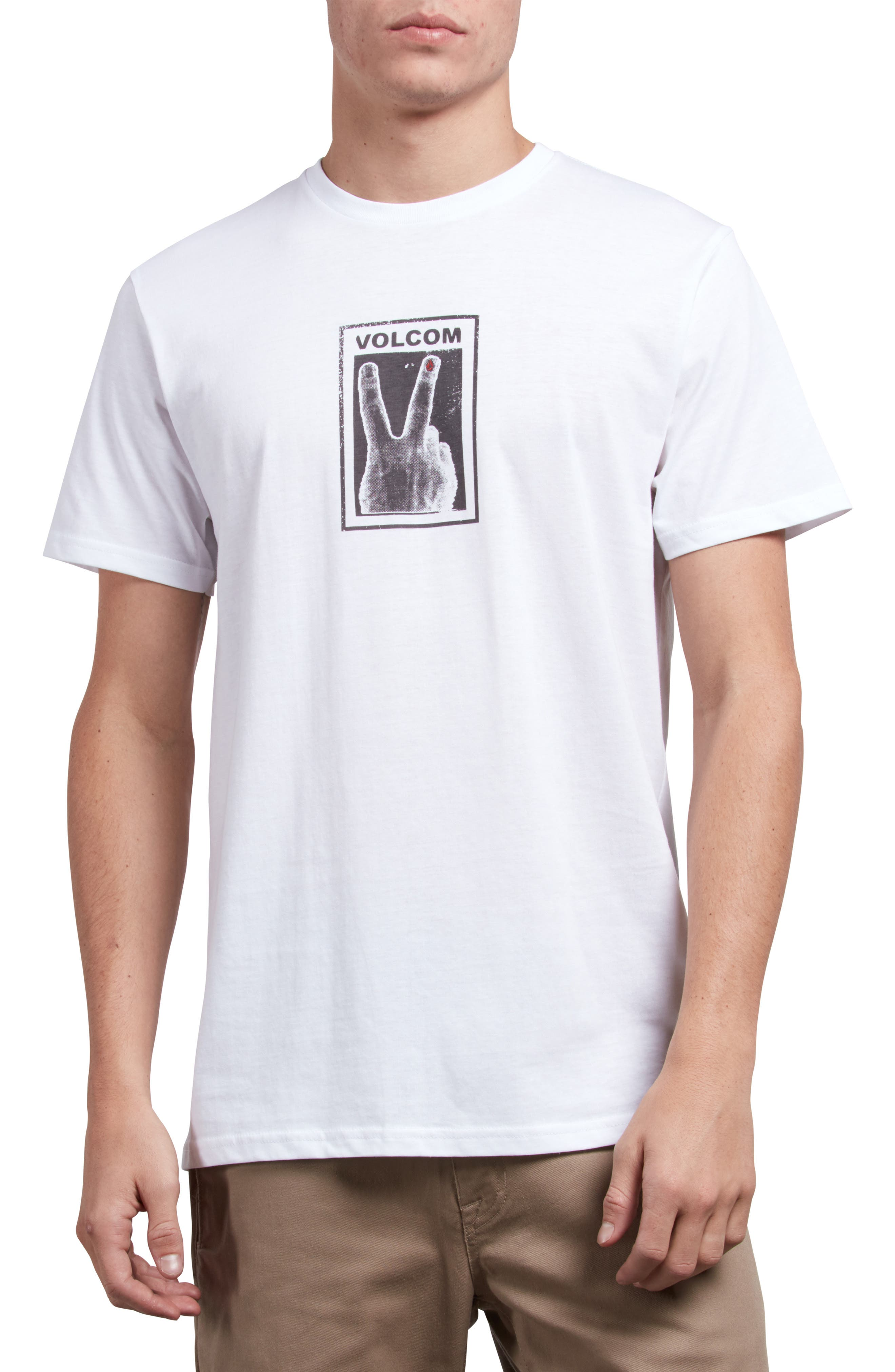 Peace Off Graphic T-Shirt,                             Main thumbnail 1, color,                             WHITE