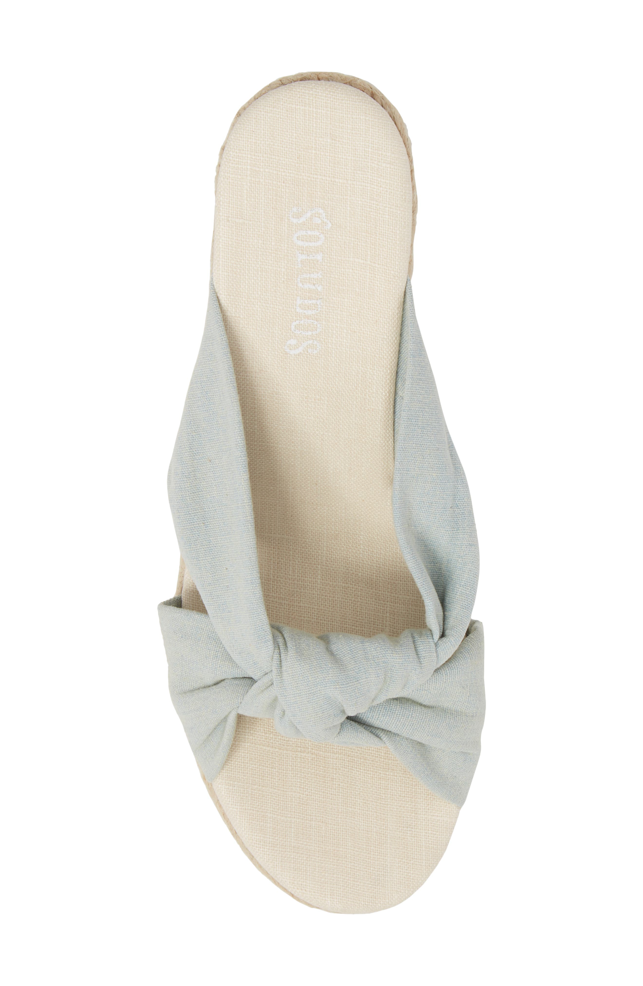 Knotted Espadrille Wedge Sandal,                             Alternate thumbnail 5, color,                             420