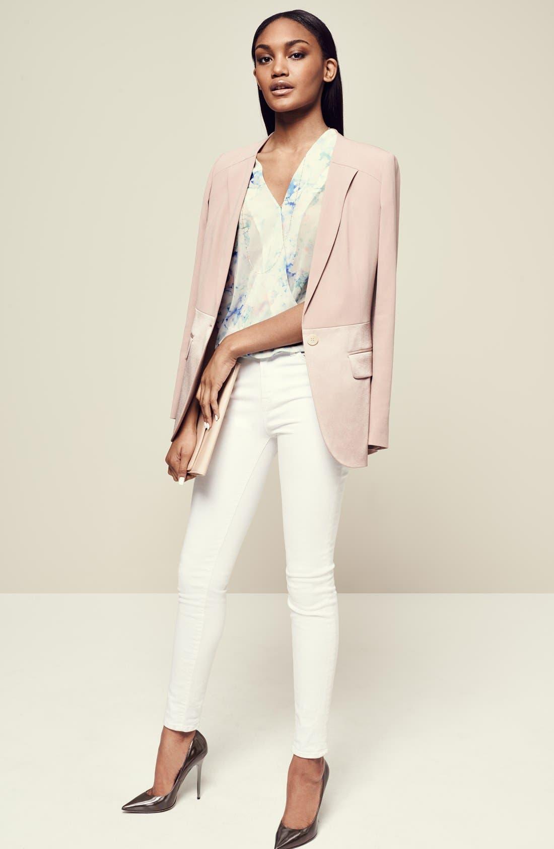 2311 Maria High Waist Super Skinny Jeans,                             Alternate thumbnail 10, color,                             BLANC