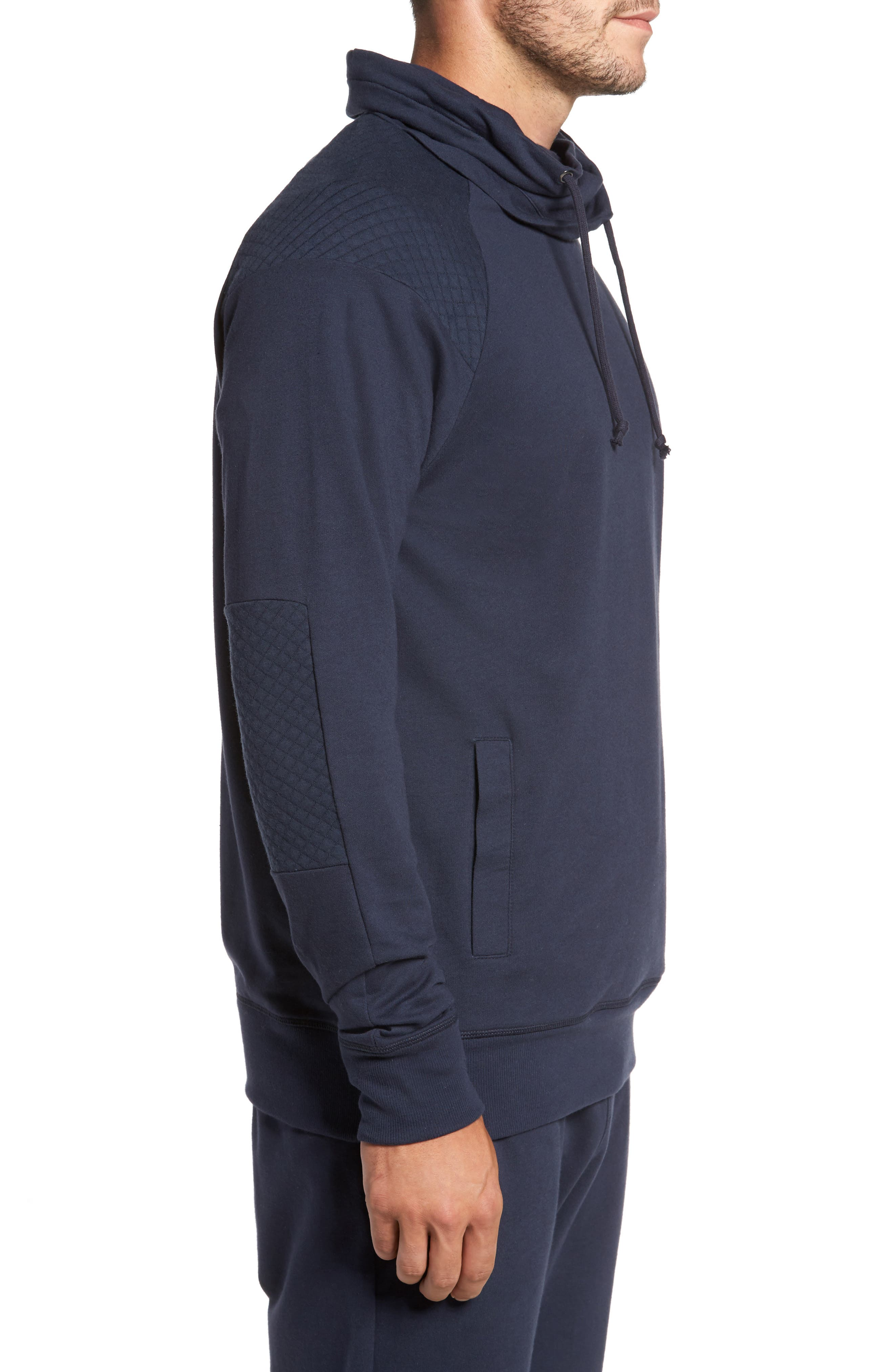 Quilted Funnel Neck Pullover,                             Alternate thumbnail 6, color,