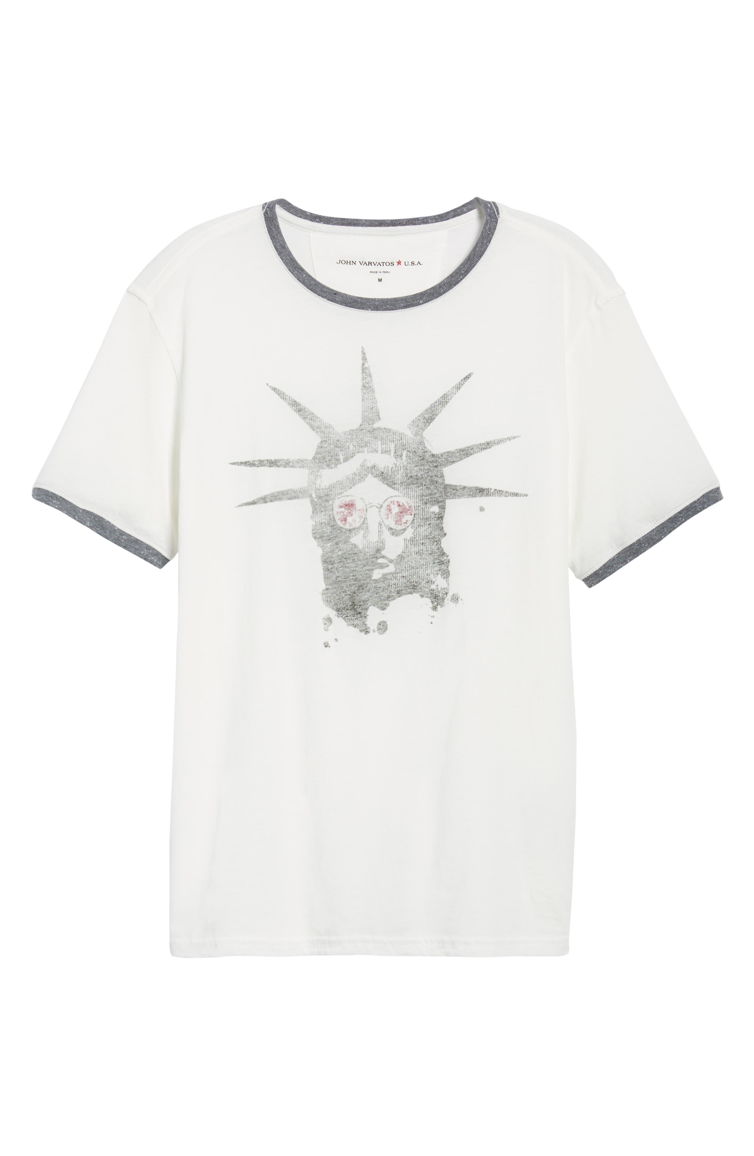 Liberty Shades Crewneck T-Shirt,                             Alternate thumbnail 6, color,                             103
